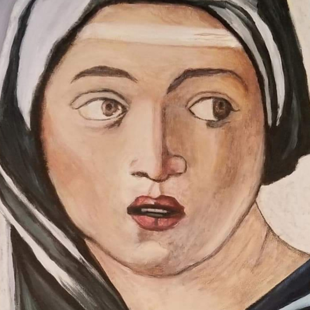 Woman in michelangelo s painting lnusyl