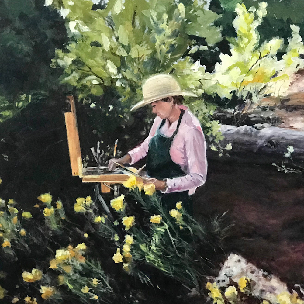 Mom painting at ghost ranch36x24 tvblxt