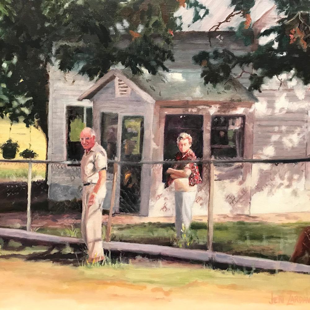 Grandma and grandpa at the farm14x11 idklpt