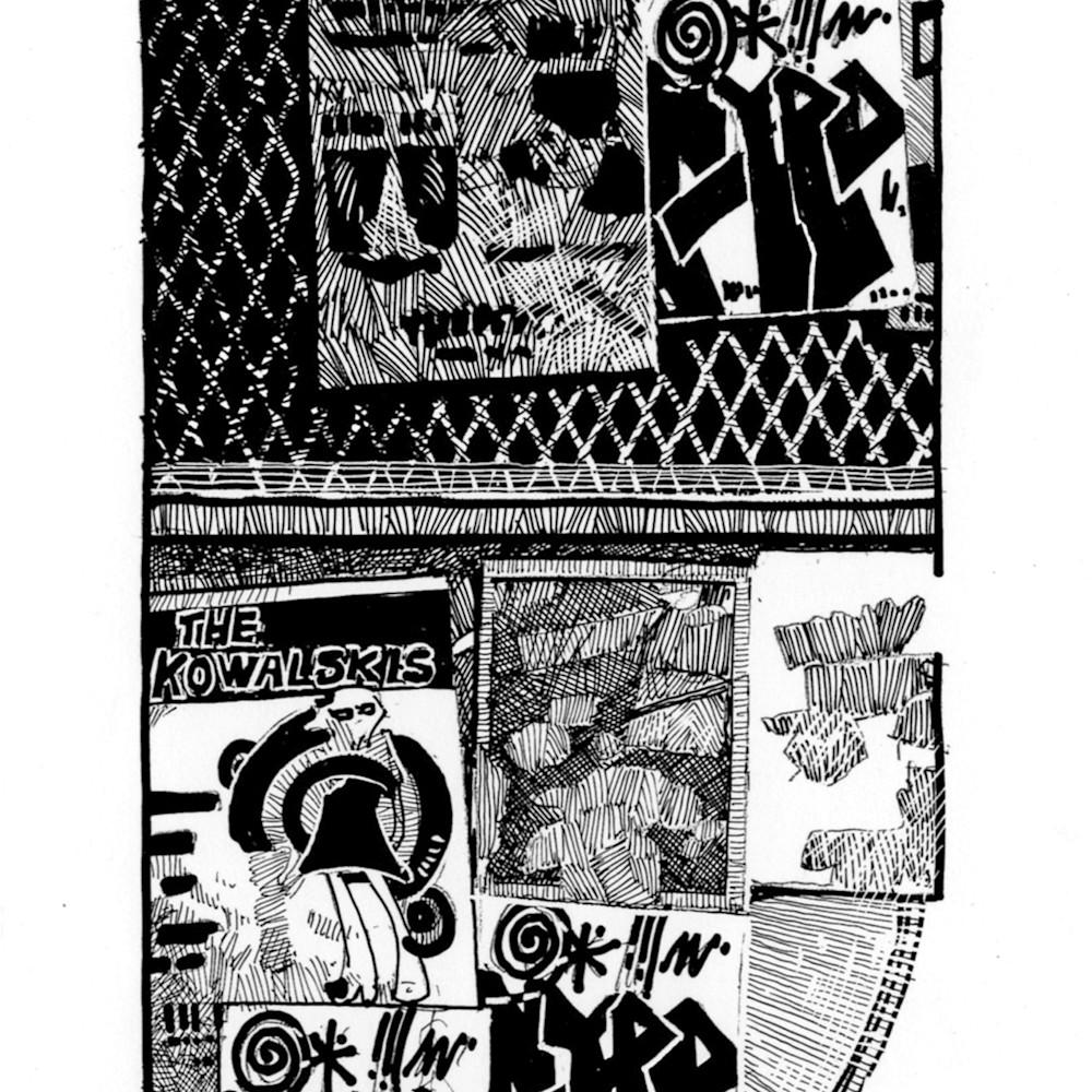 Graffiti fence o1bmln