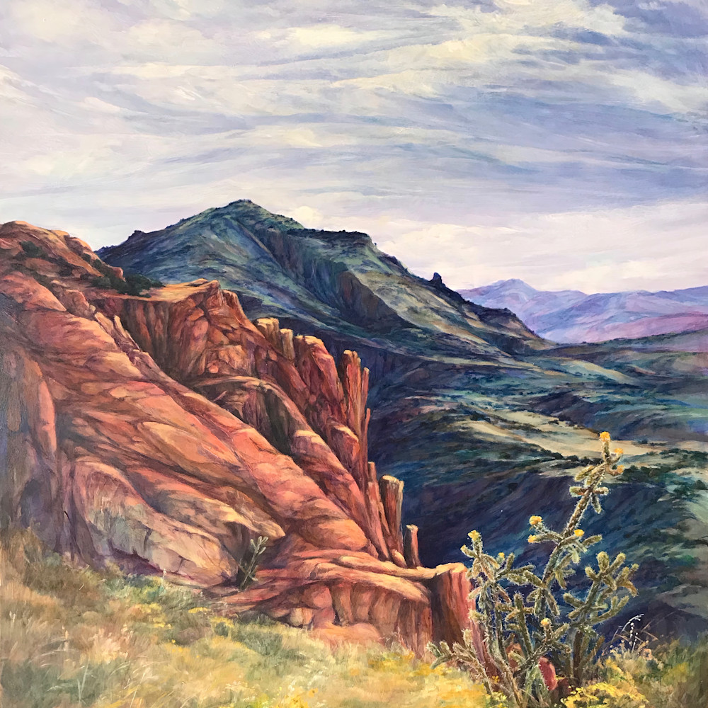 Where the mountains touch the sky 36x24 oil lindy c severns 2g tfbeak
