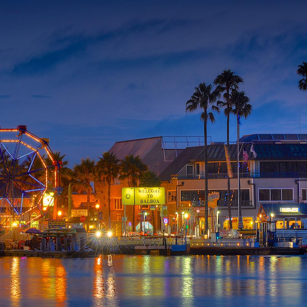 Balboa ferris wheel night scene pg1i8s