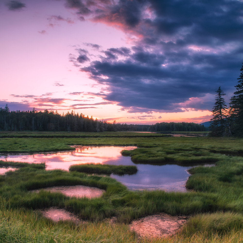 Andy crawford photography sunset at bass harbor marsh fgm5oh