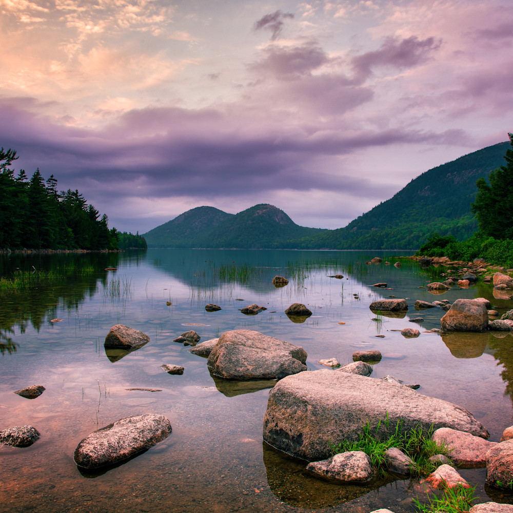 Andy crawford photography jordan pond sunset tjh3va