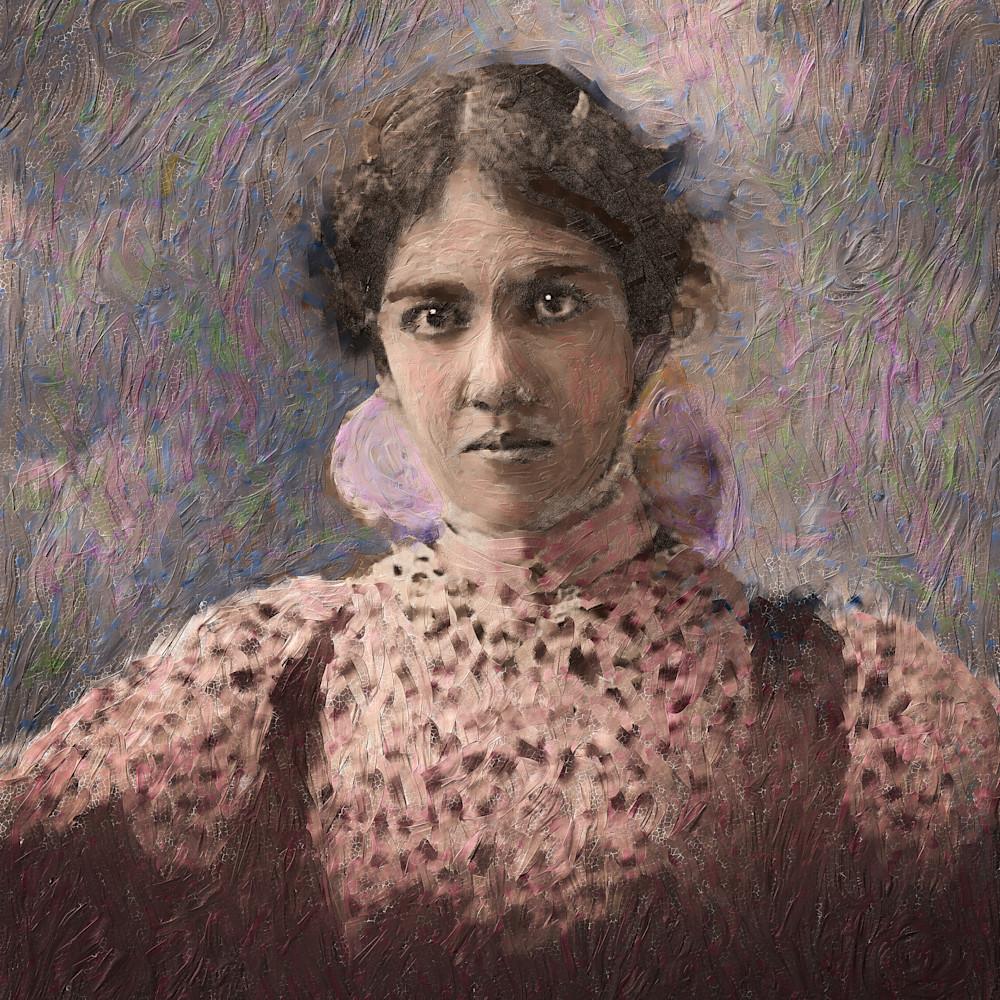 Potrait of hawaiian woman jpjzlb
