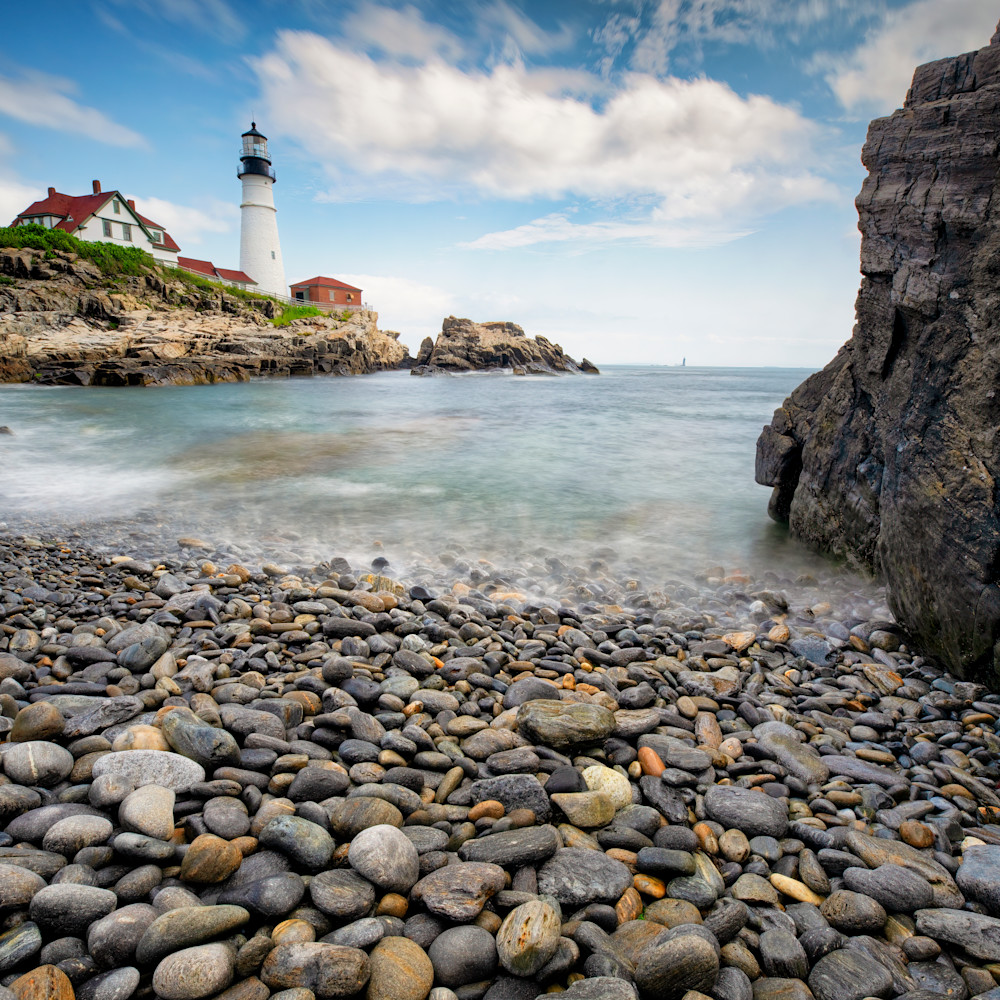 Andy crawford photography portland head lighthouse from pebble beach rjna18