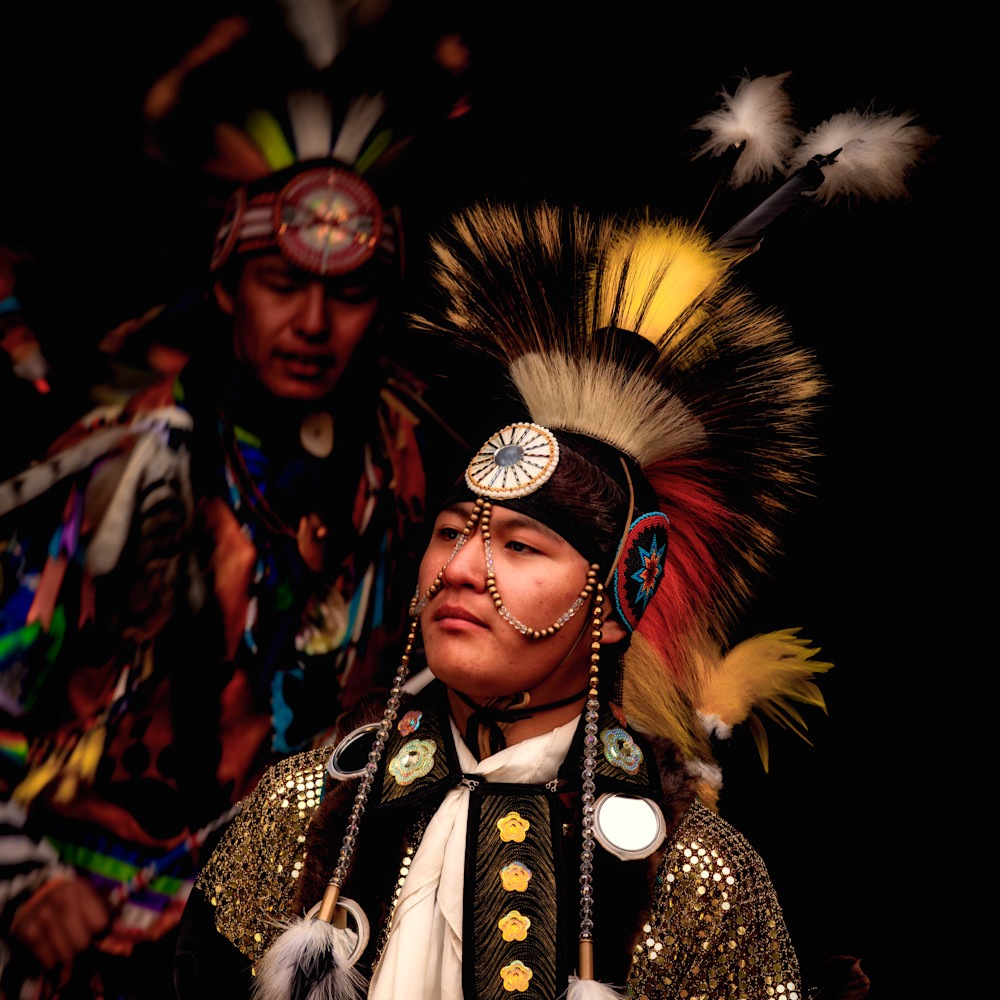 Young blackfoot native american dancers in traditional clothing 2 1 ttbwai