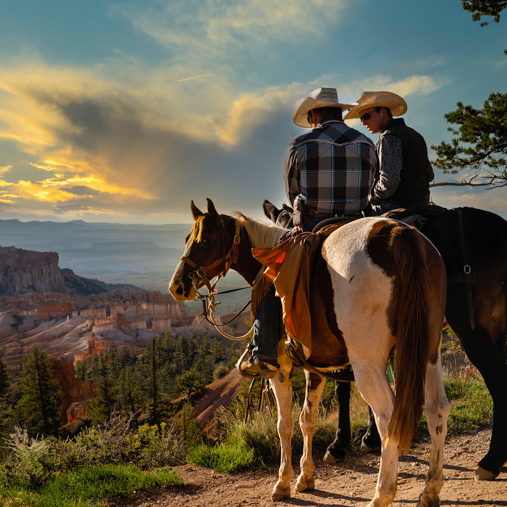 Cowboys on the edge of bryce canyon rjdhmw