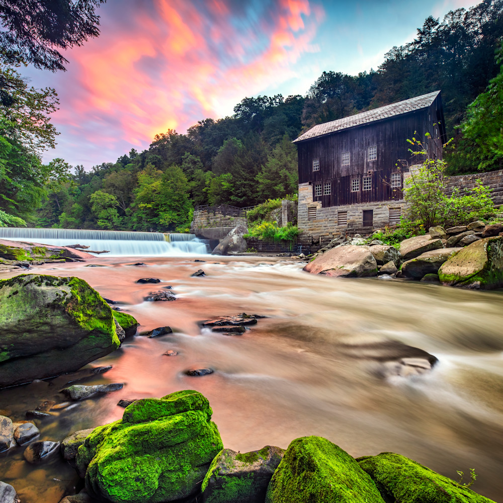 Andy crawford photography sunrise at mcconnell s mill xvwg7m