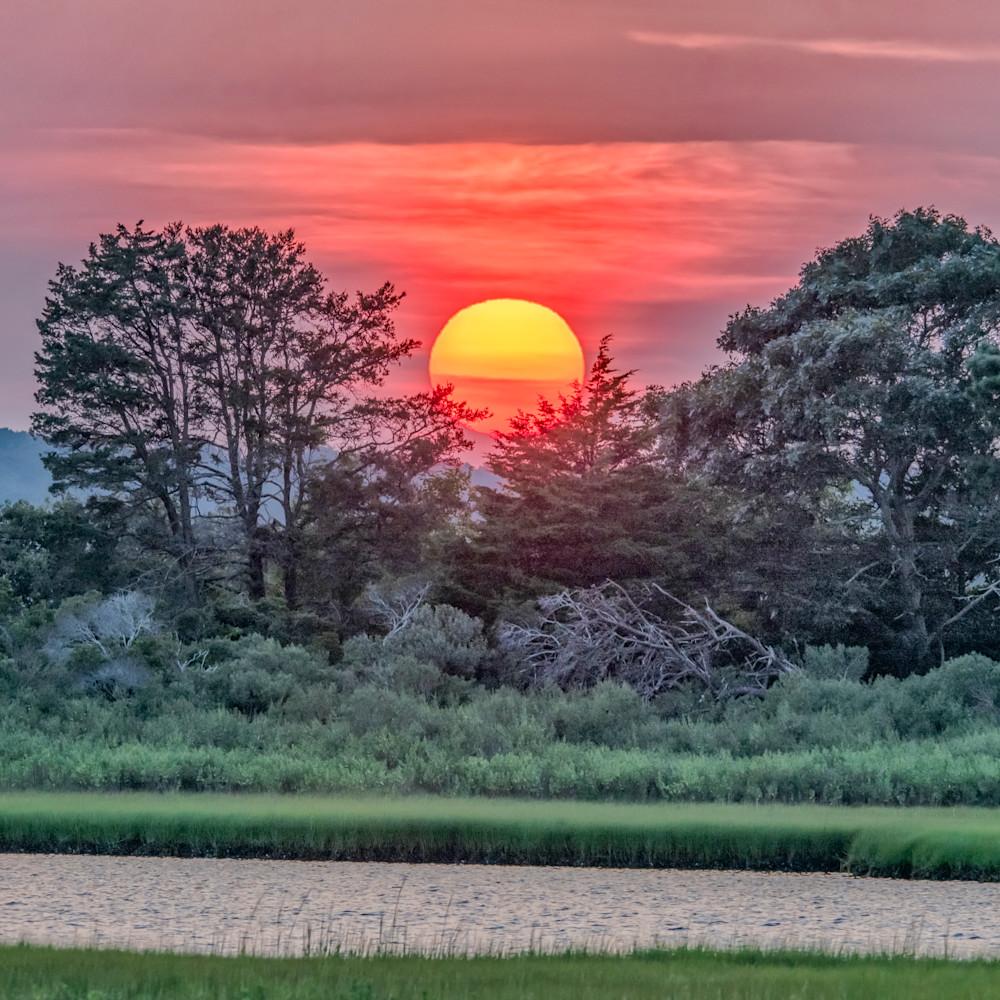 Sengekontackert late summer sunset rijpqy