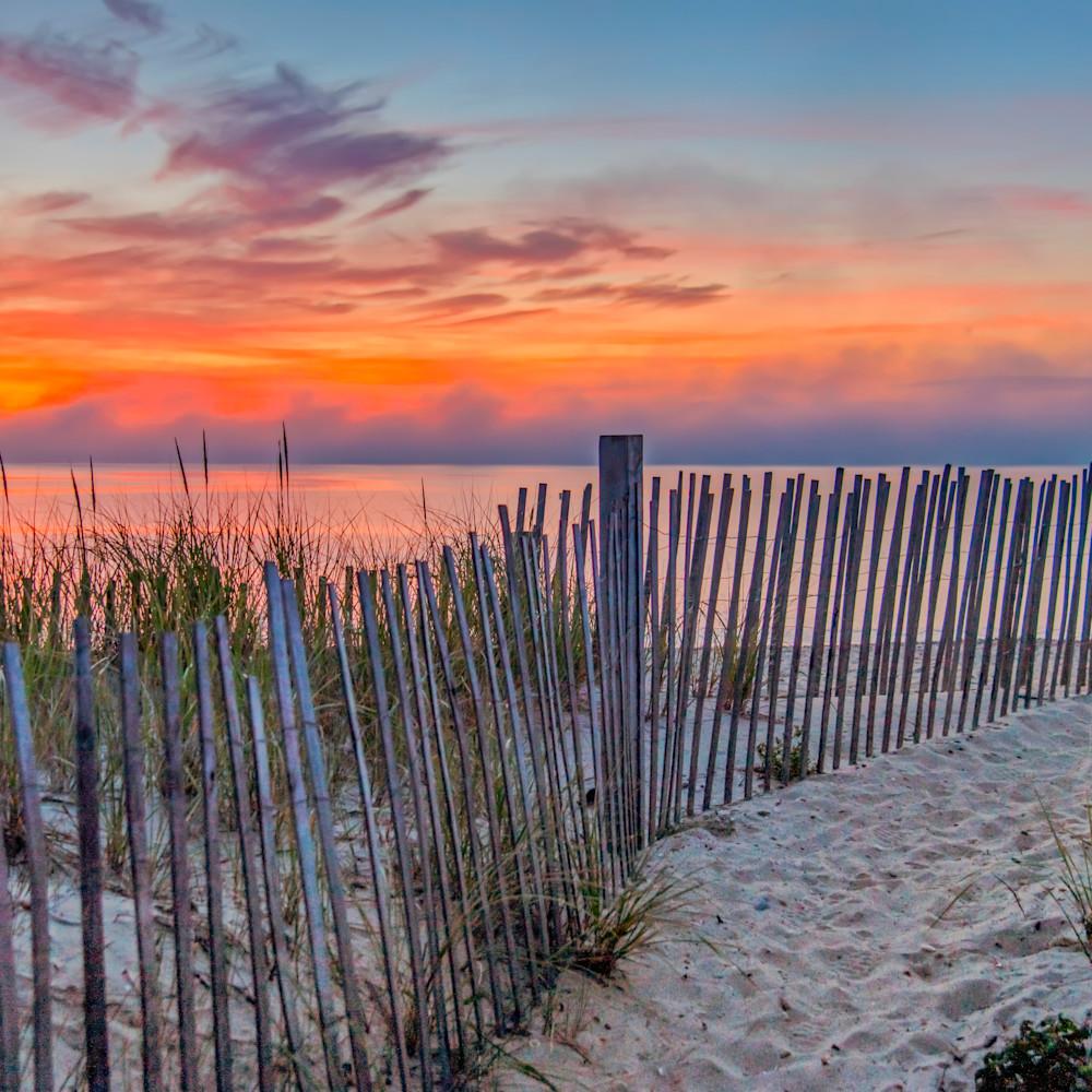 State beach sunrise snow fence hmlnaf