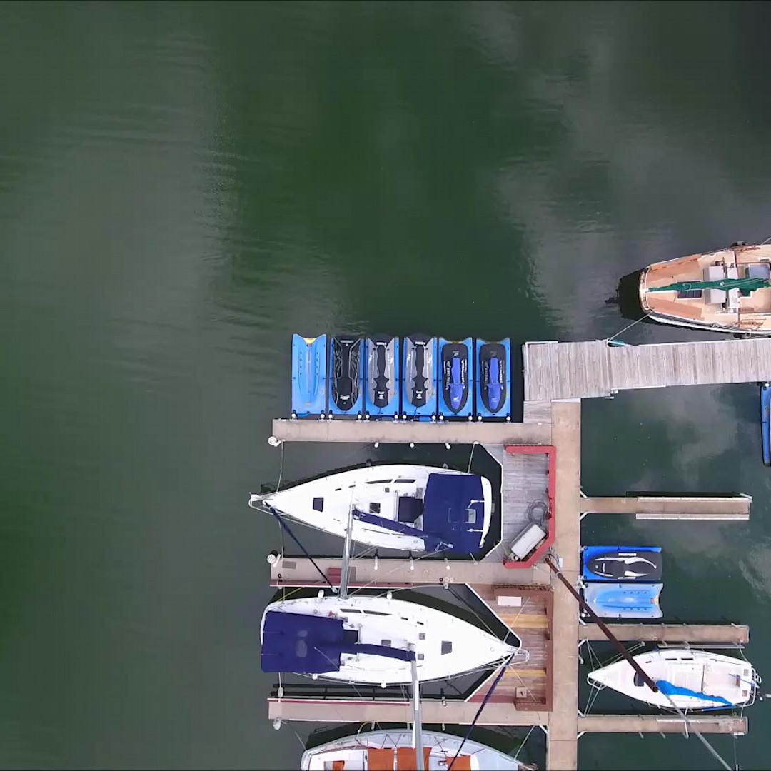 Birds eye view over the marina yvlsgz