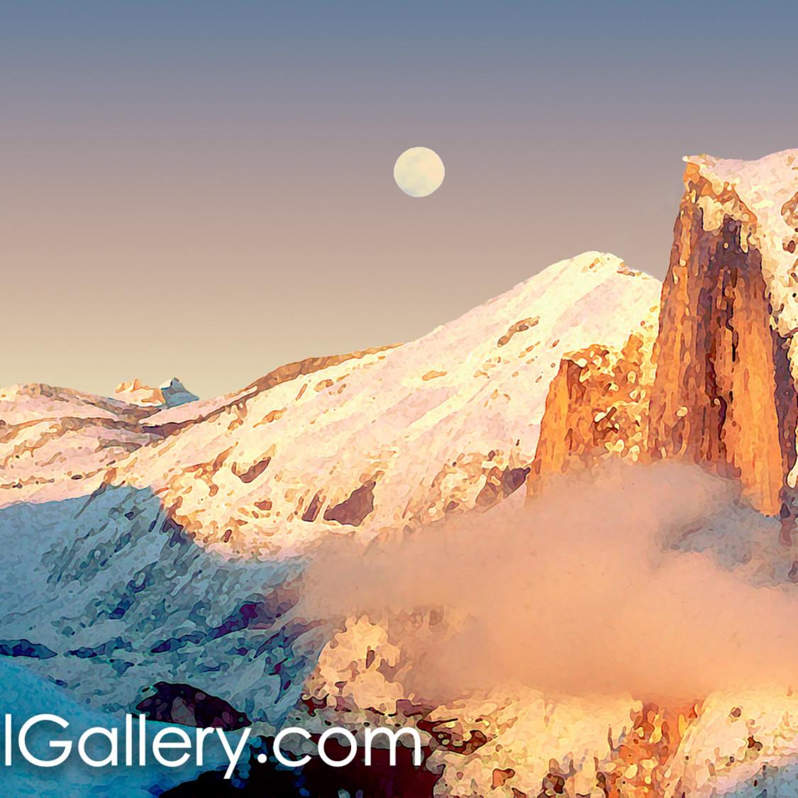 Yosemite alpenglow yvumwk