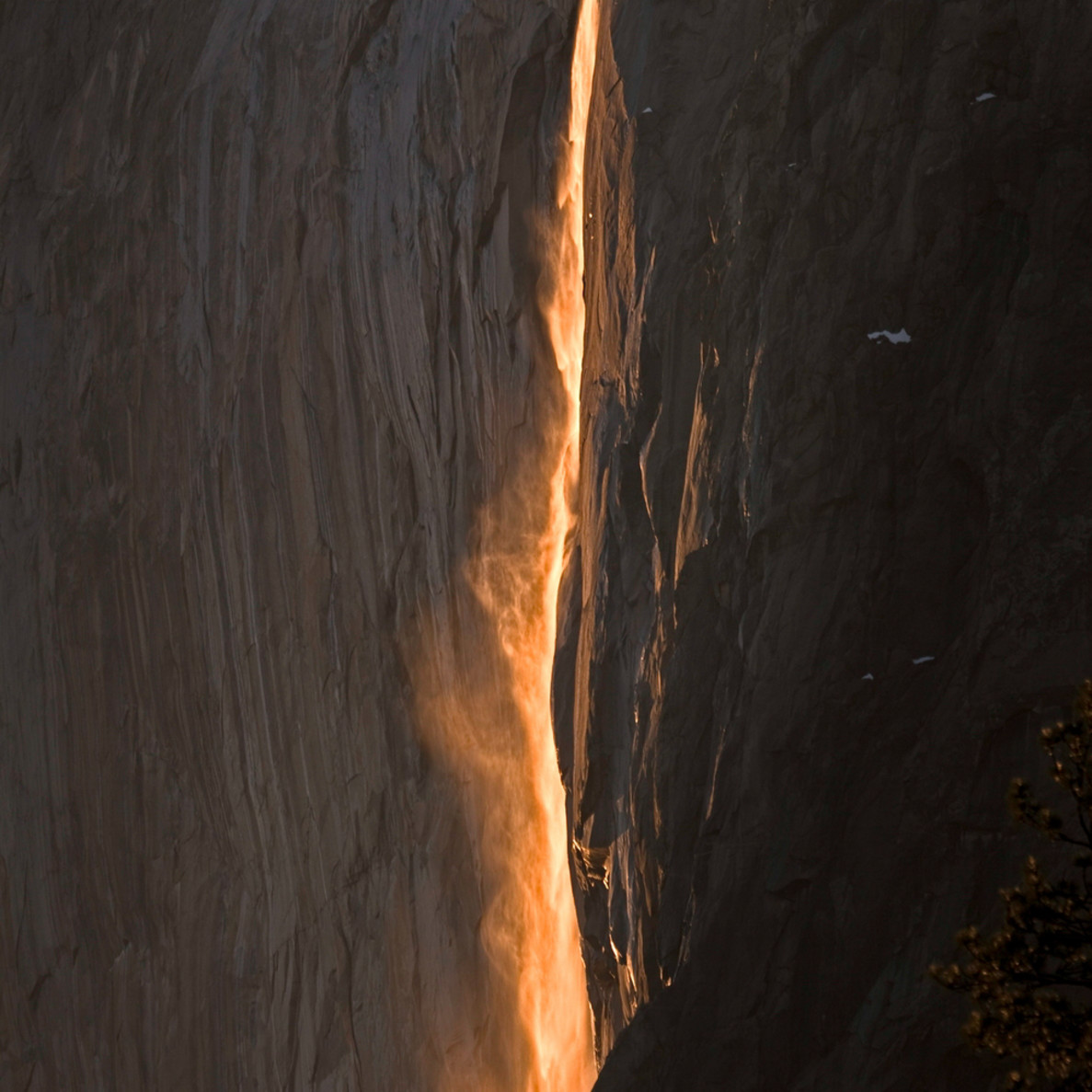 Last light on horsetail falls pgyour