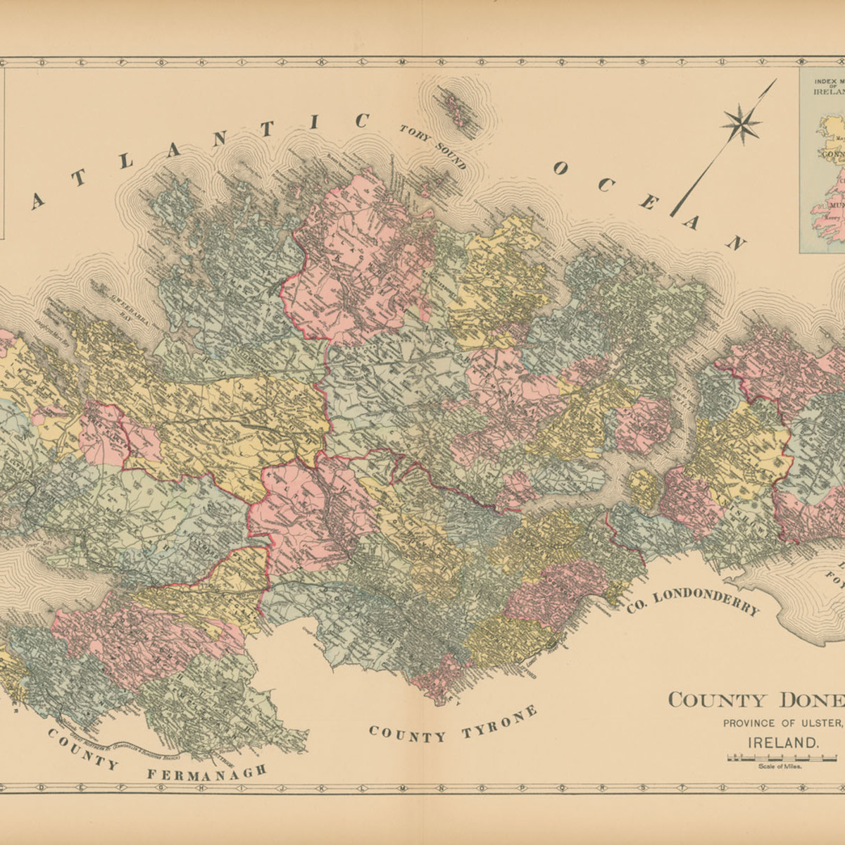 Map of county donegal dc4ycc
