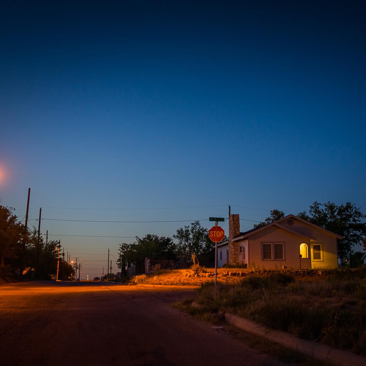 House at dusk big spring texas  sgmraz