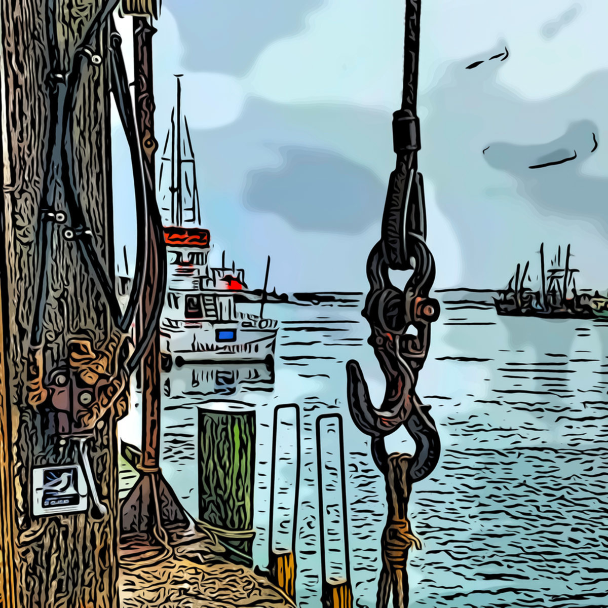 Waiting for boats 18x18 1 hqtsxp
