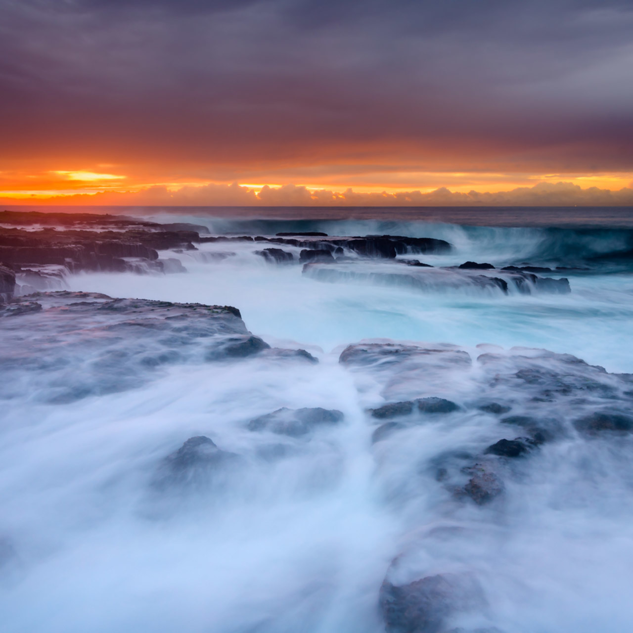 Draining seas   newcastle ocean baths nsw australia beach sunrise me4w4j