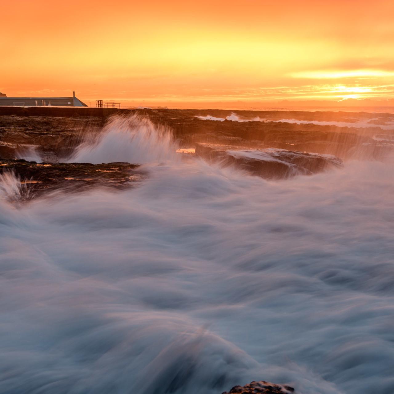 Sunrise is my favourite colour   newcastle ocean baths nsw australia beach sunrise hwbibu