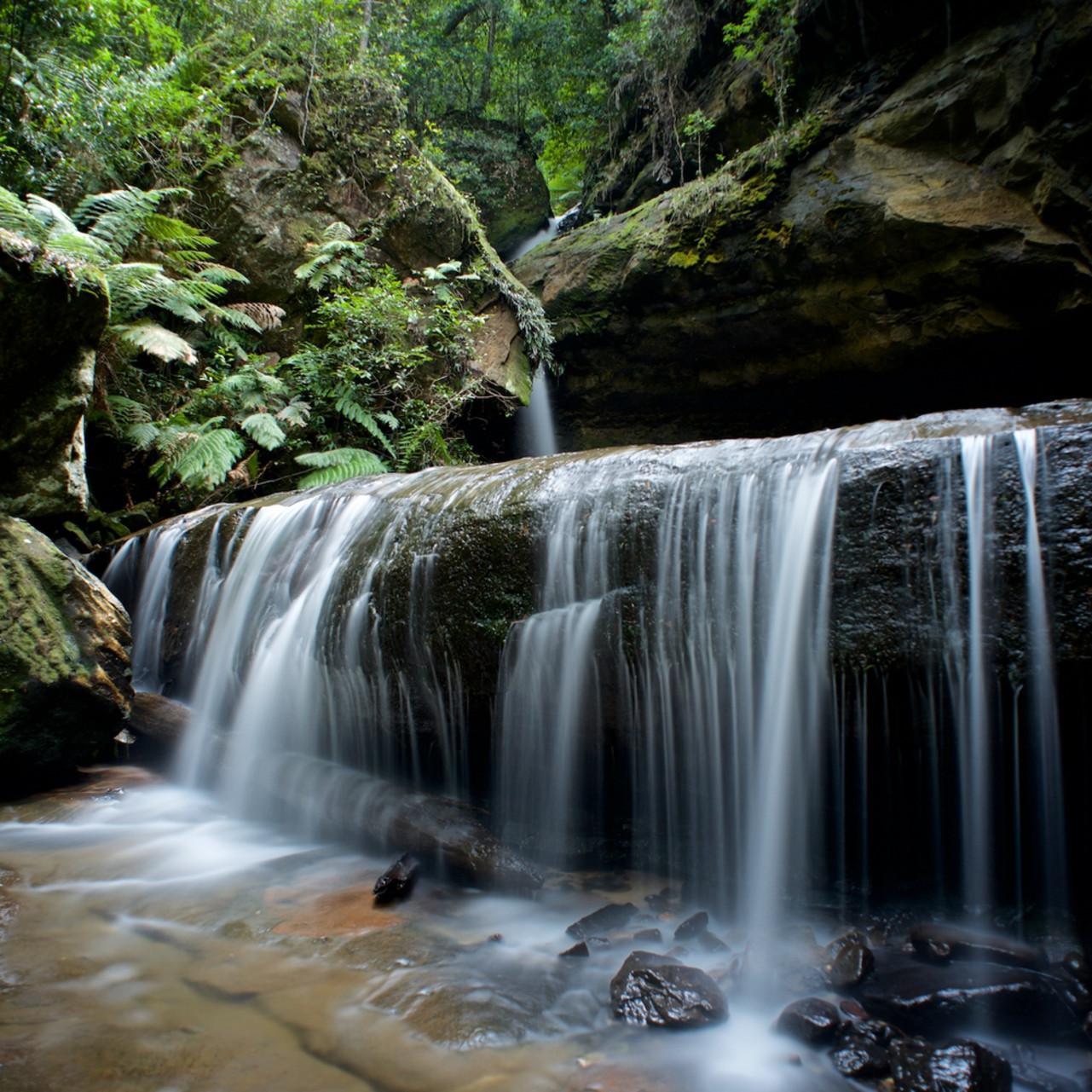 Trinity falls blackheath govetts leap blue mountains national park nsw australia limited edition wj0exs