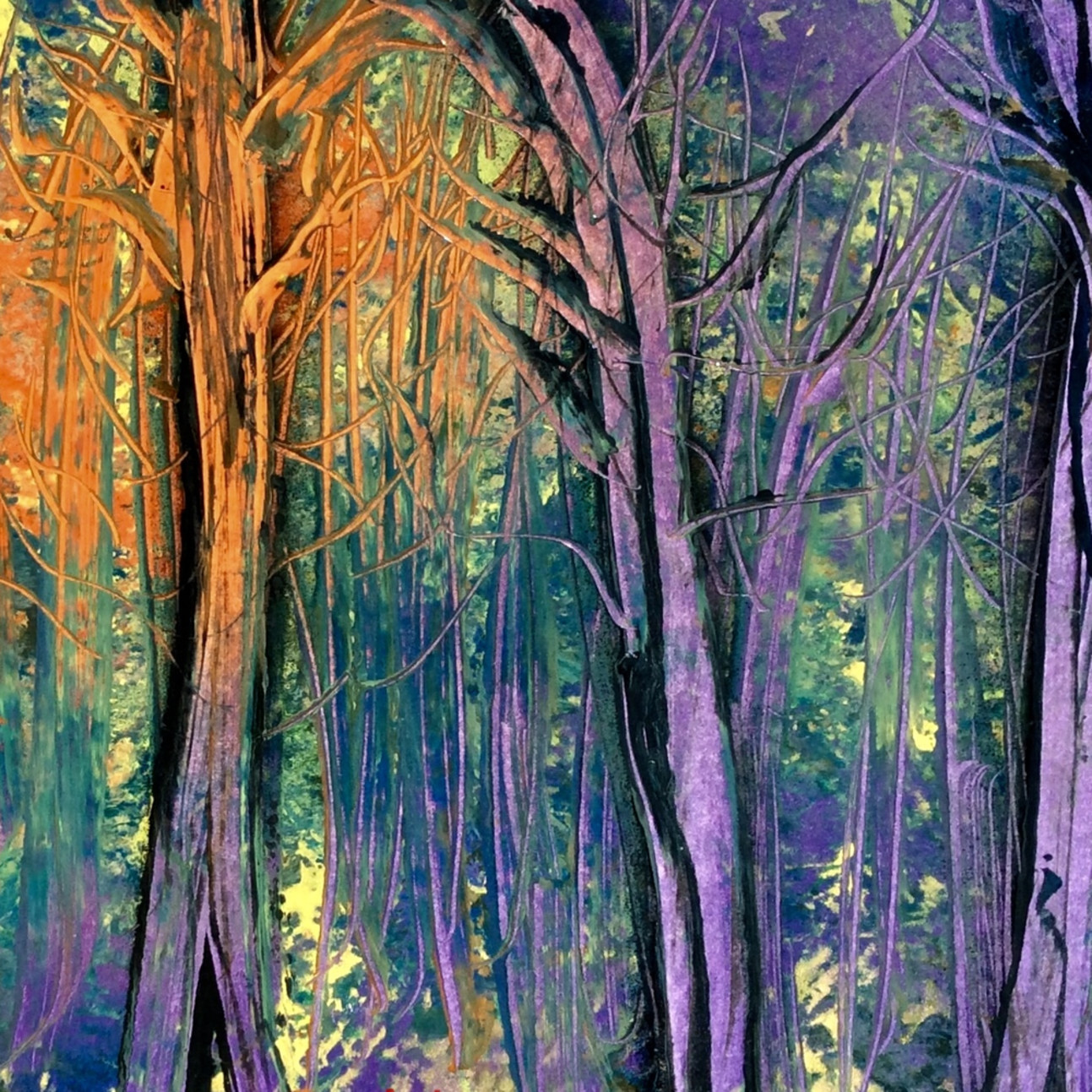 Rainbow ghost trees kkez8e