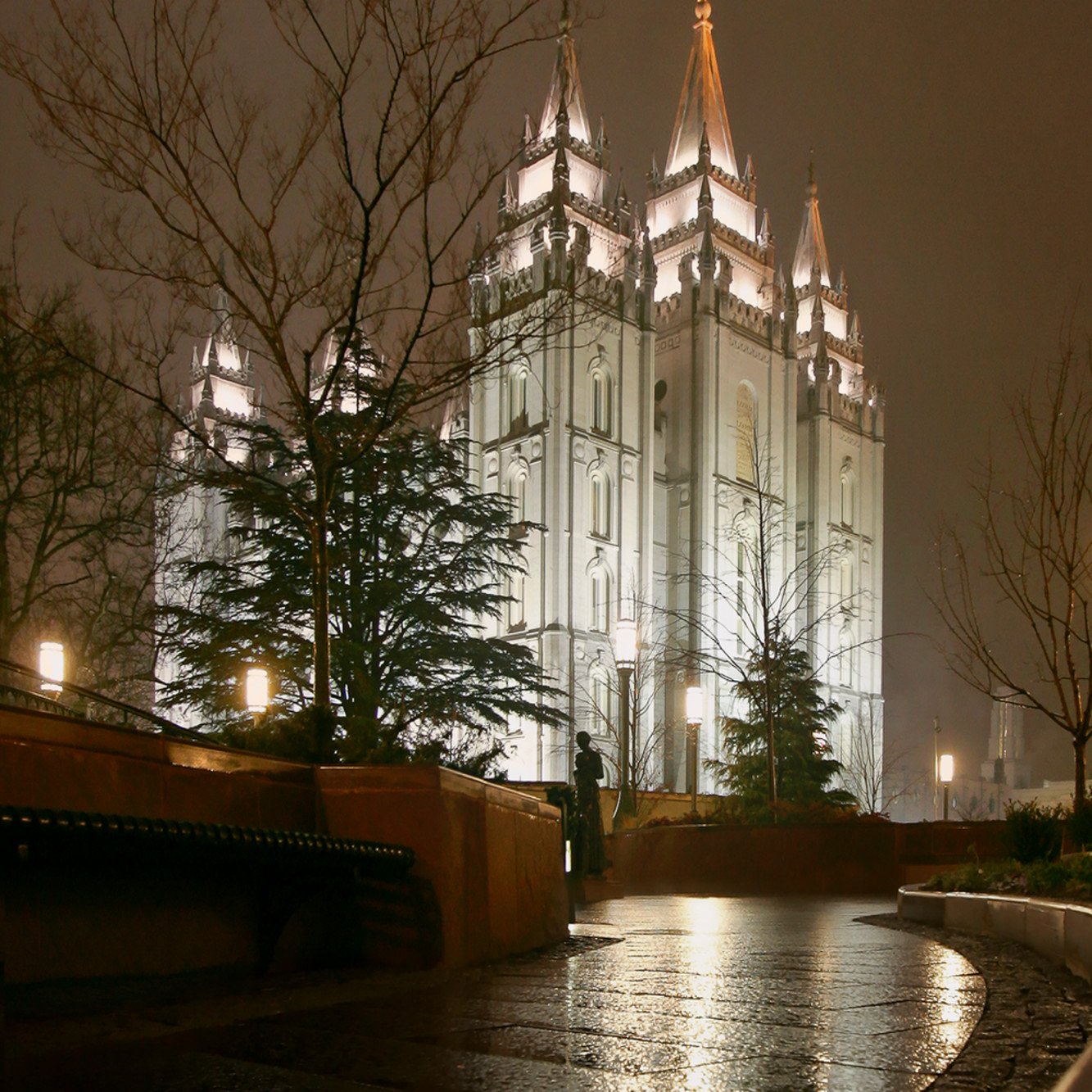 Salt Lake Temple Rain Path