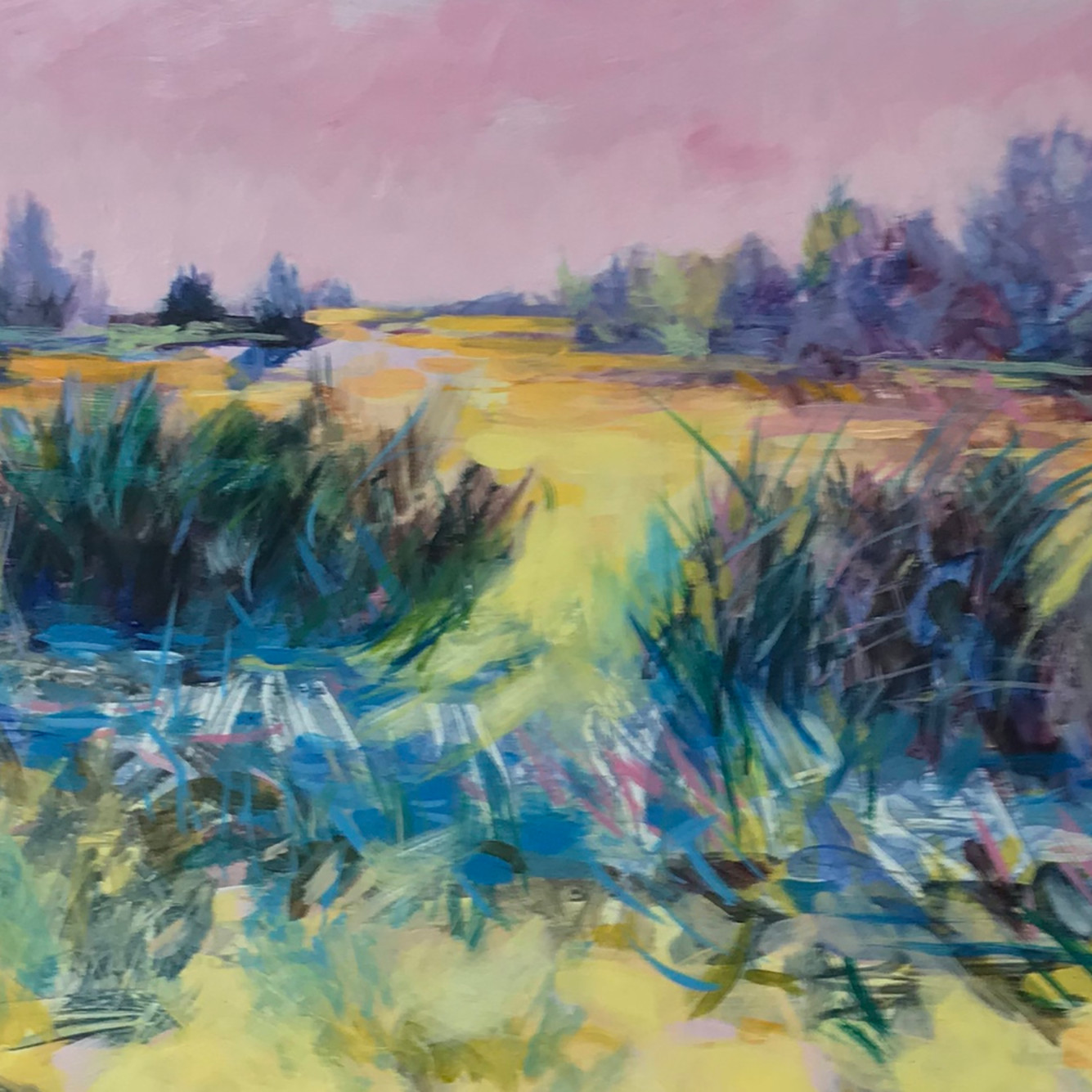 Holtb purple rushes acrylic 9 x 12 gks2xs