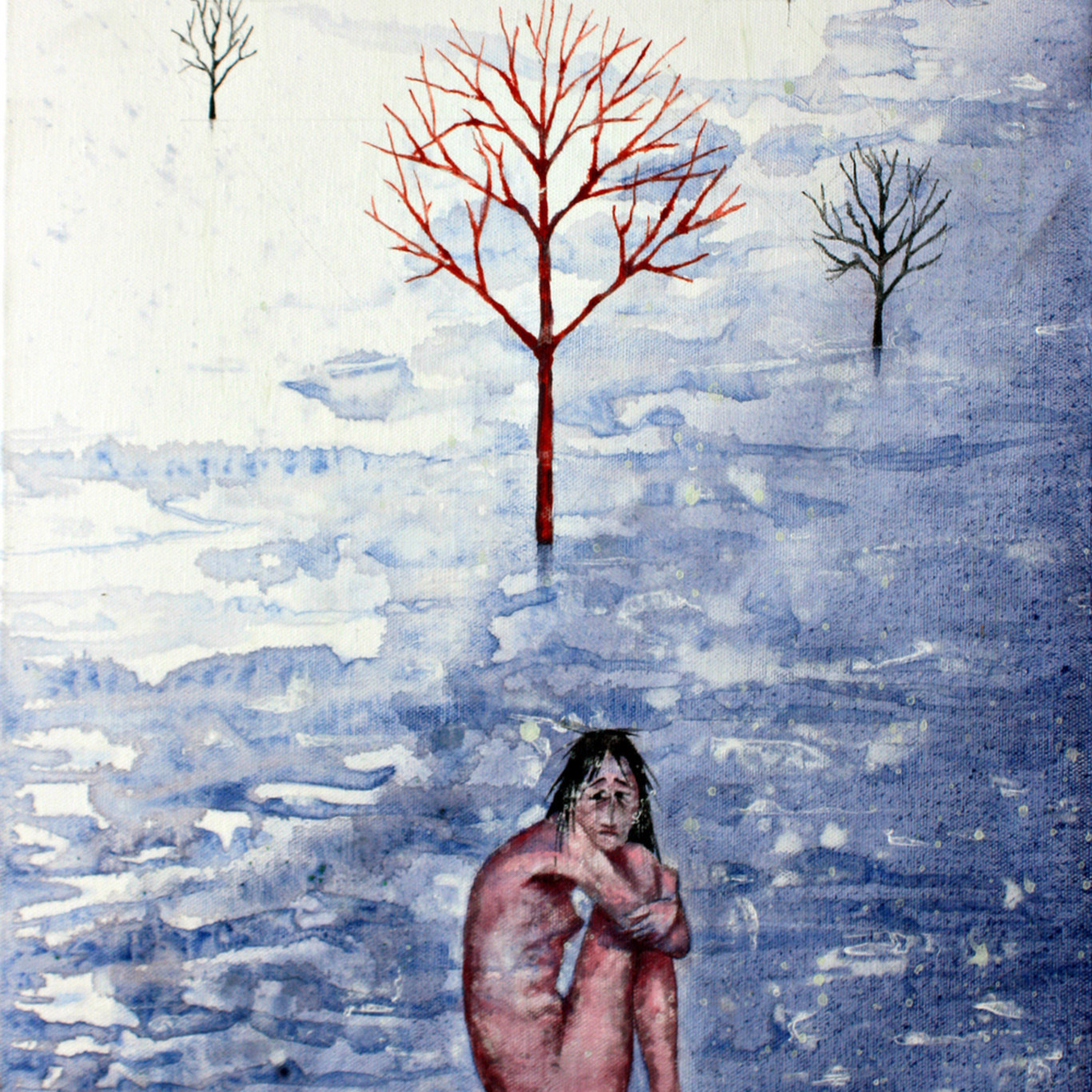 Girl in the snow. fstfli