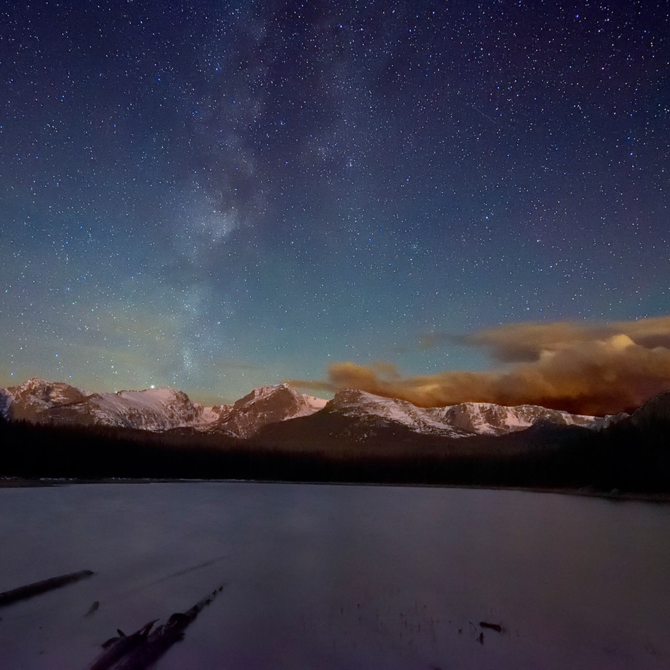 Milky way over bierstadt lake 3 cut40u