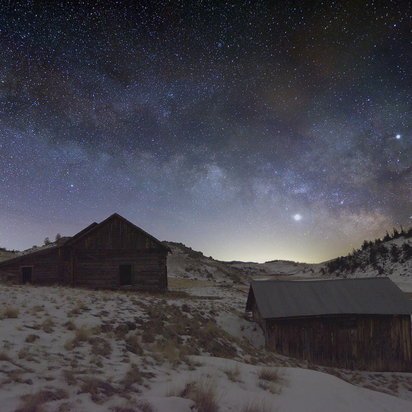 Milky way over wright homestead 1 dppaqb
