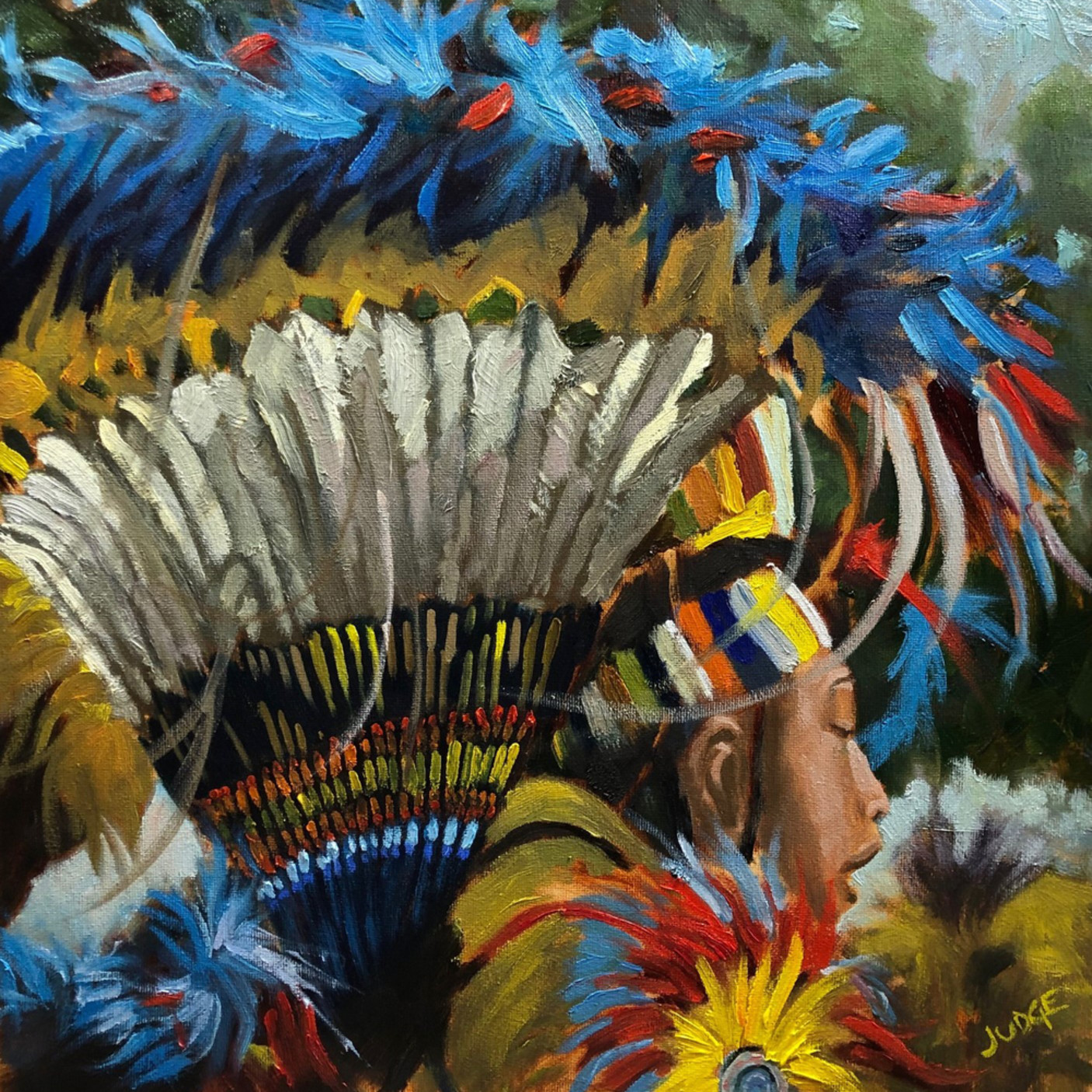 20652832 native american dancer c lbb8wv