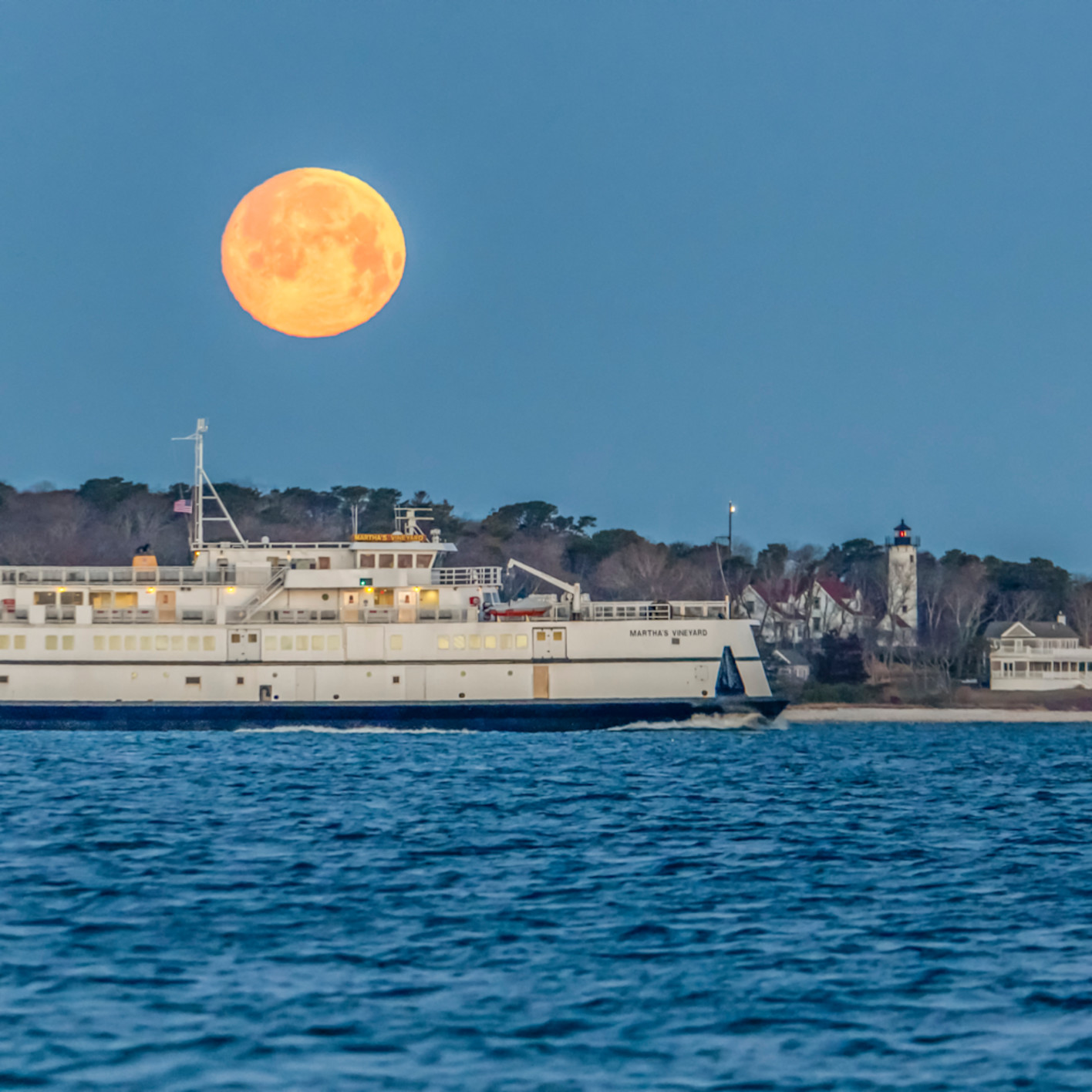 Steamship ferry snow moon zyuqui