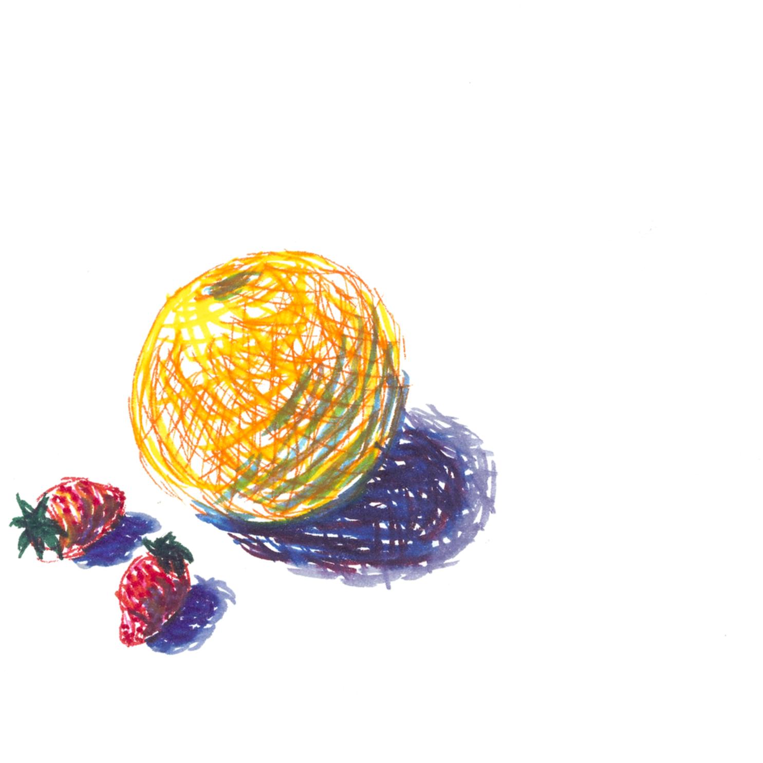 Imaginary fruit still life uf3fld t9dehd