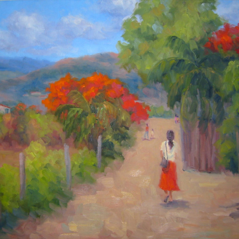 Senorita in a red skirt m2bnle