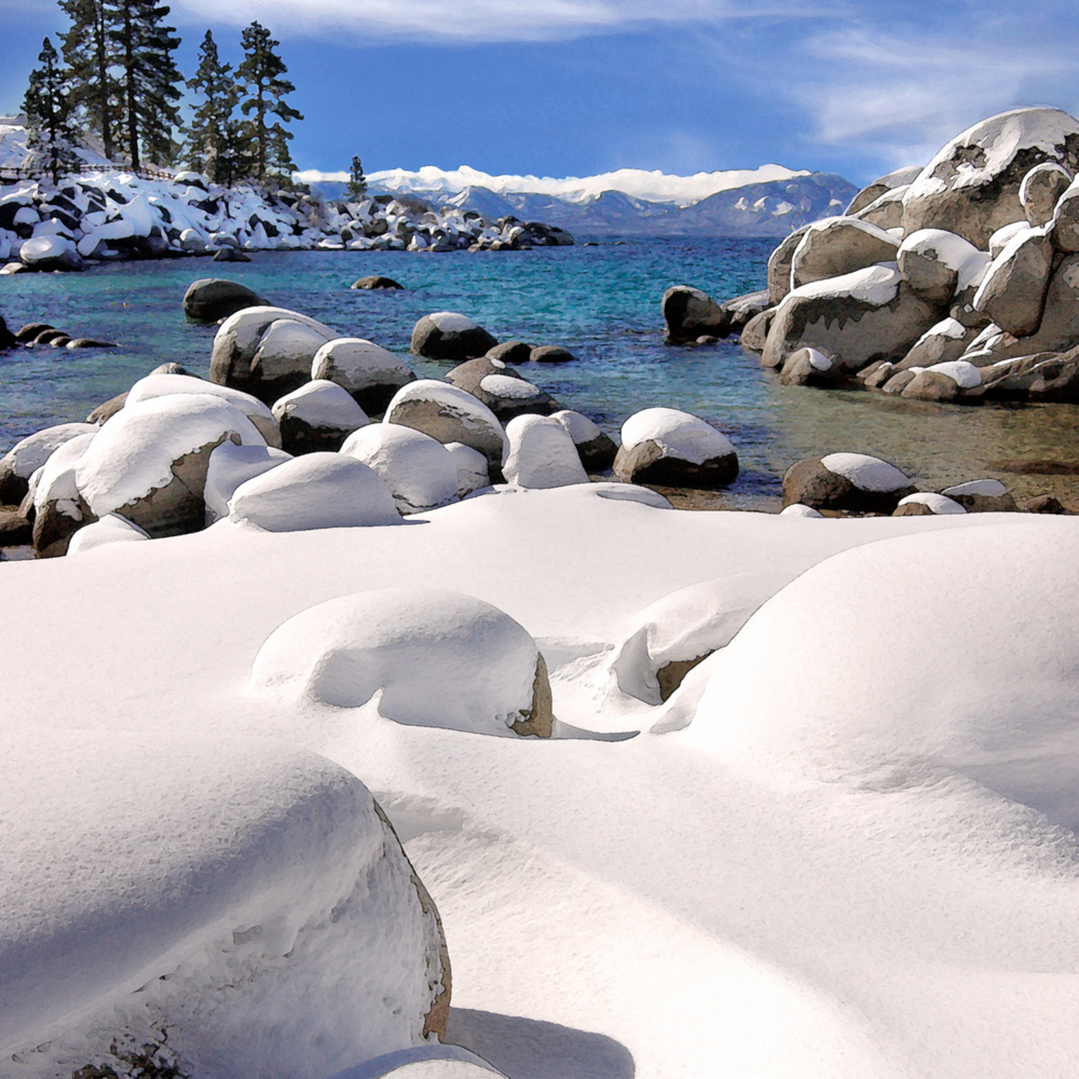Sand harbor snow wkokfk