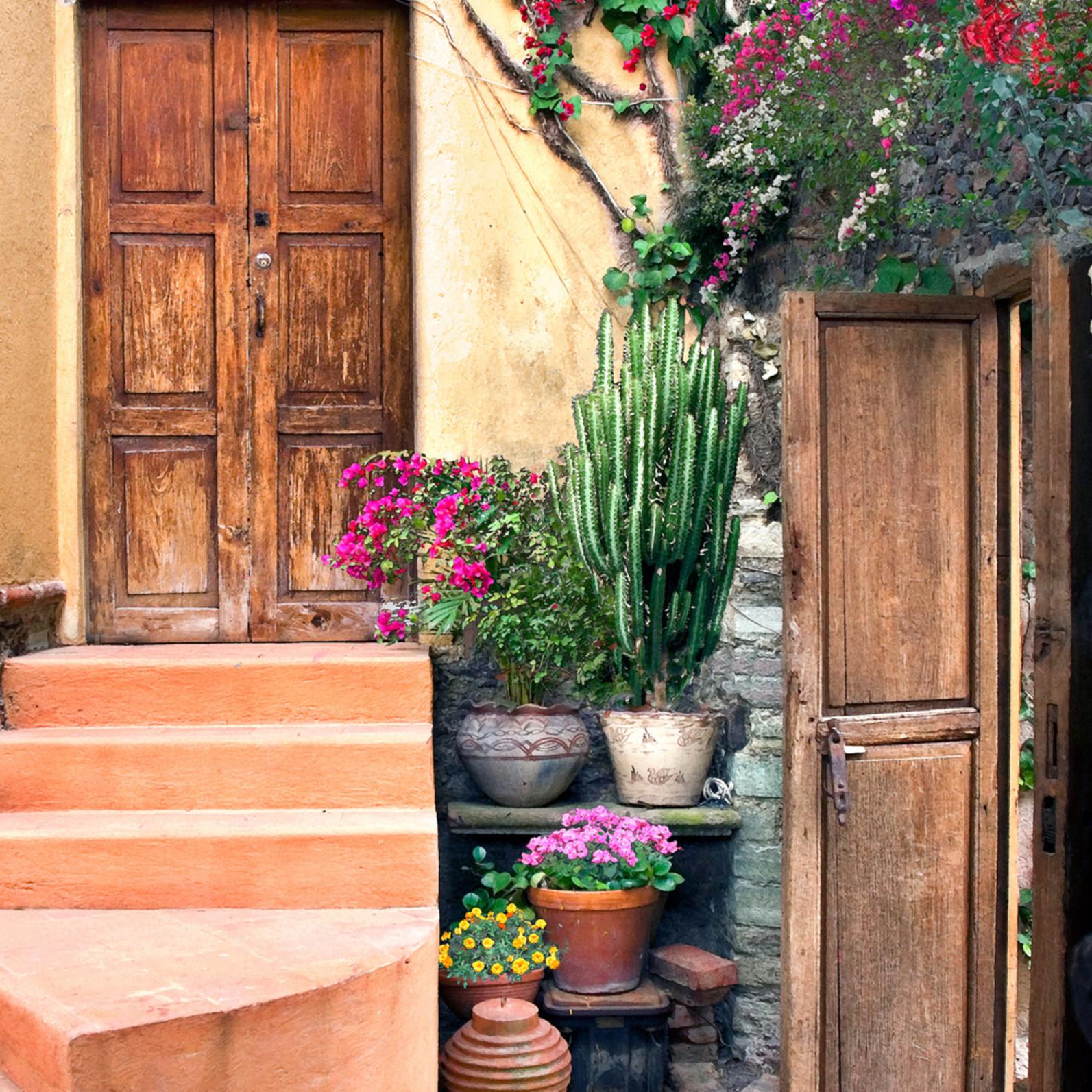 Puerta al natural y el jardin qeejmh