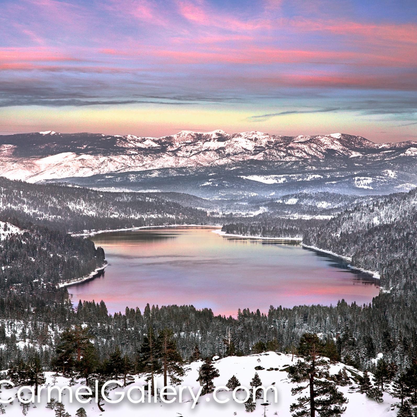 December sunset donner lake q0b0fa