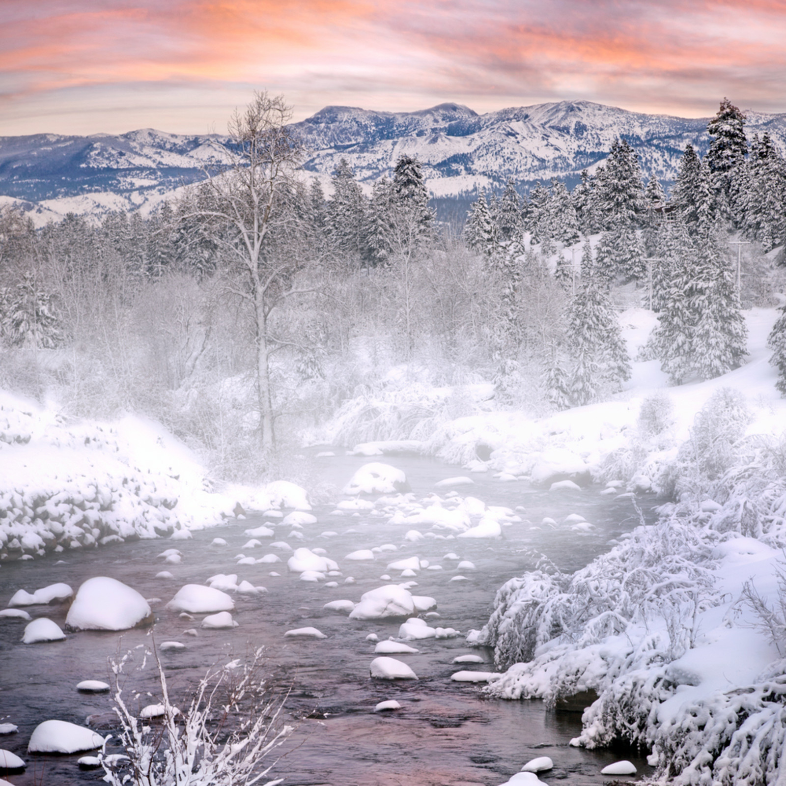 Winter evening truckee rivers ci2t82