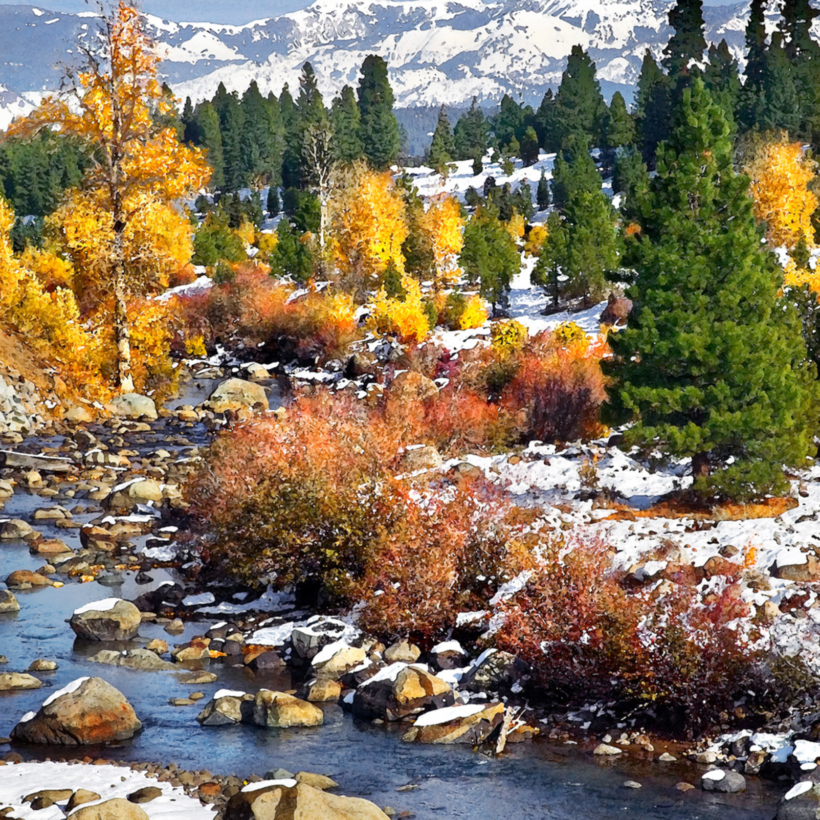 First snow truckee river iuirti