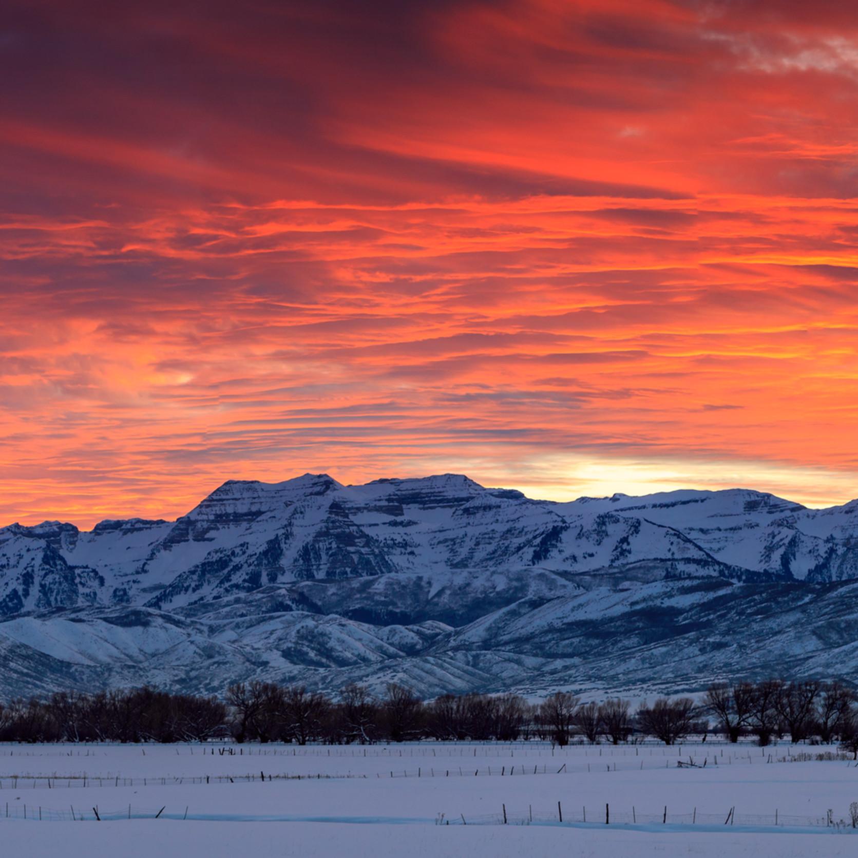 Heber valley winter sunset panorama pesxwh