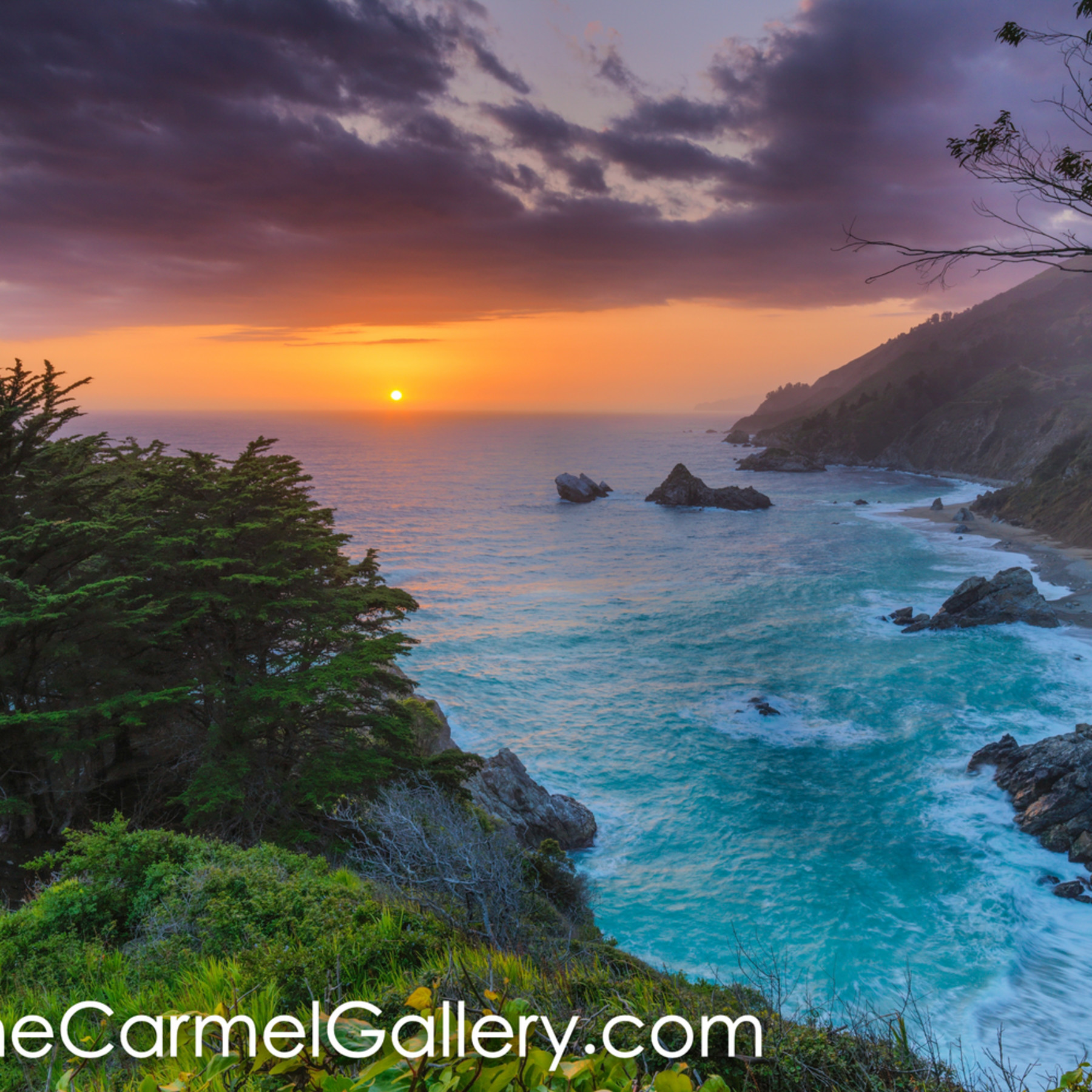 Big sur sunset hdhbst