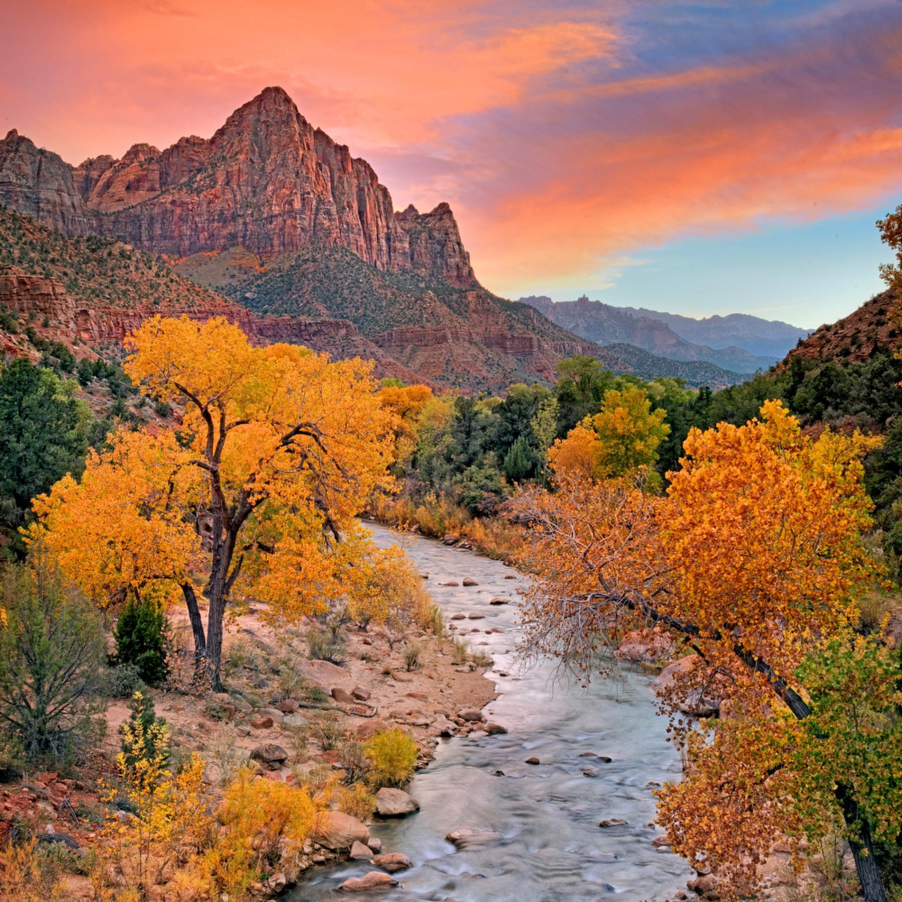 Autumn sunset zion xgseek