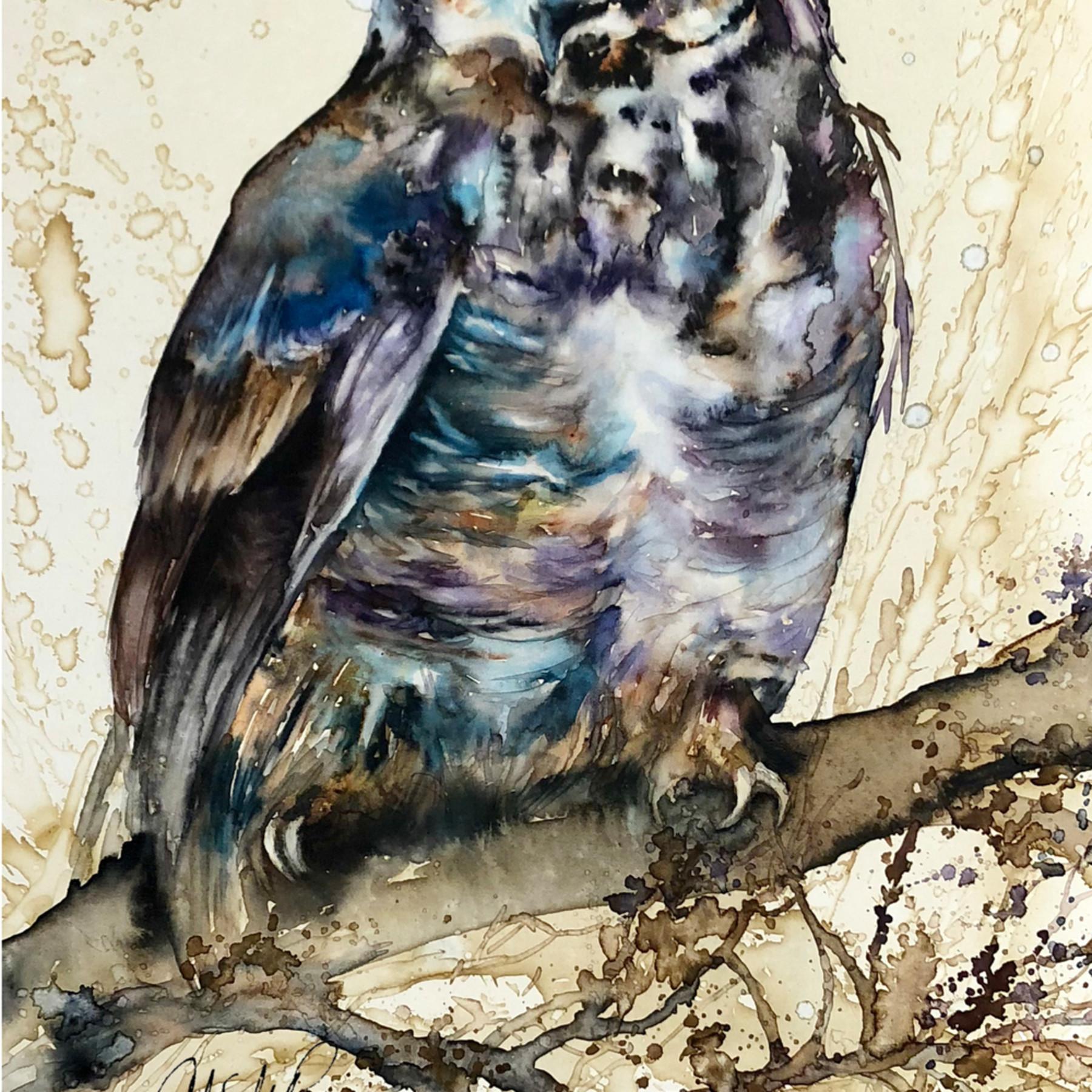 Owl horned signed vatal3