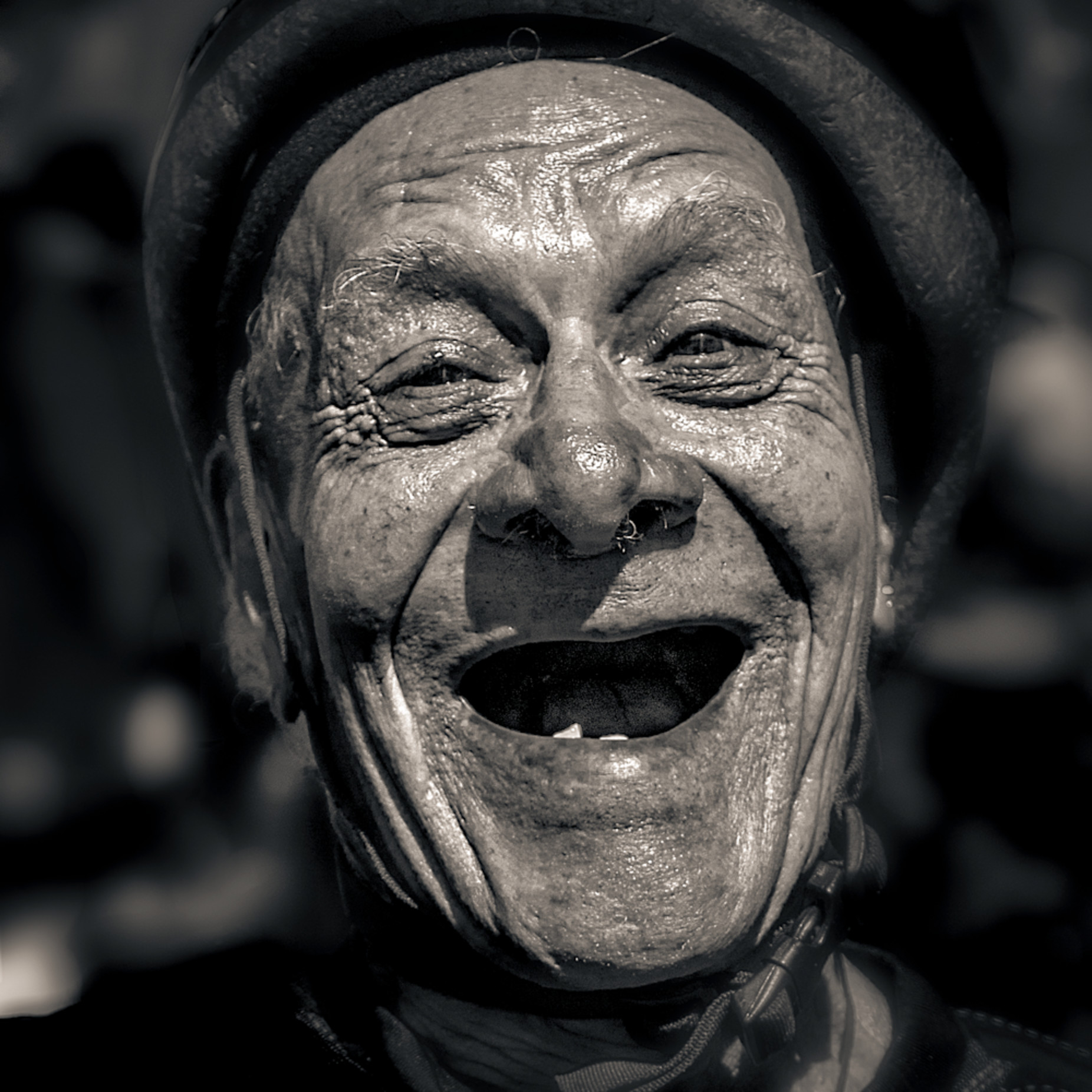 Laughing man at ciclavia 2018 okp8f0