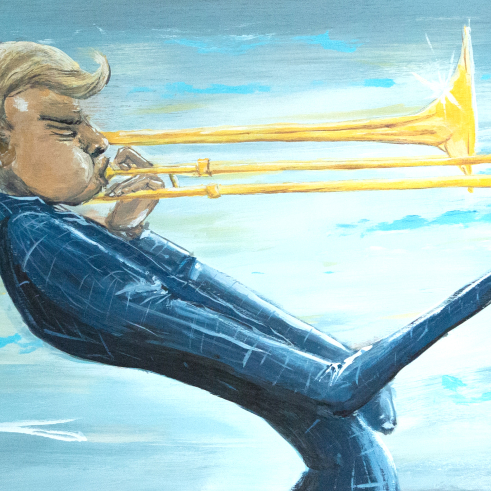 Trombone player print final xameex
