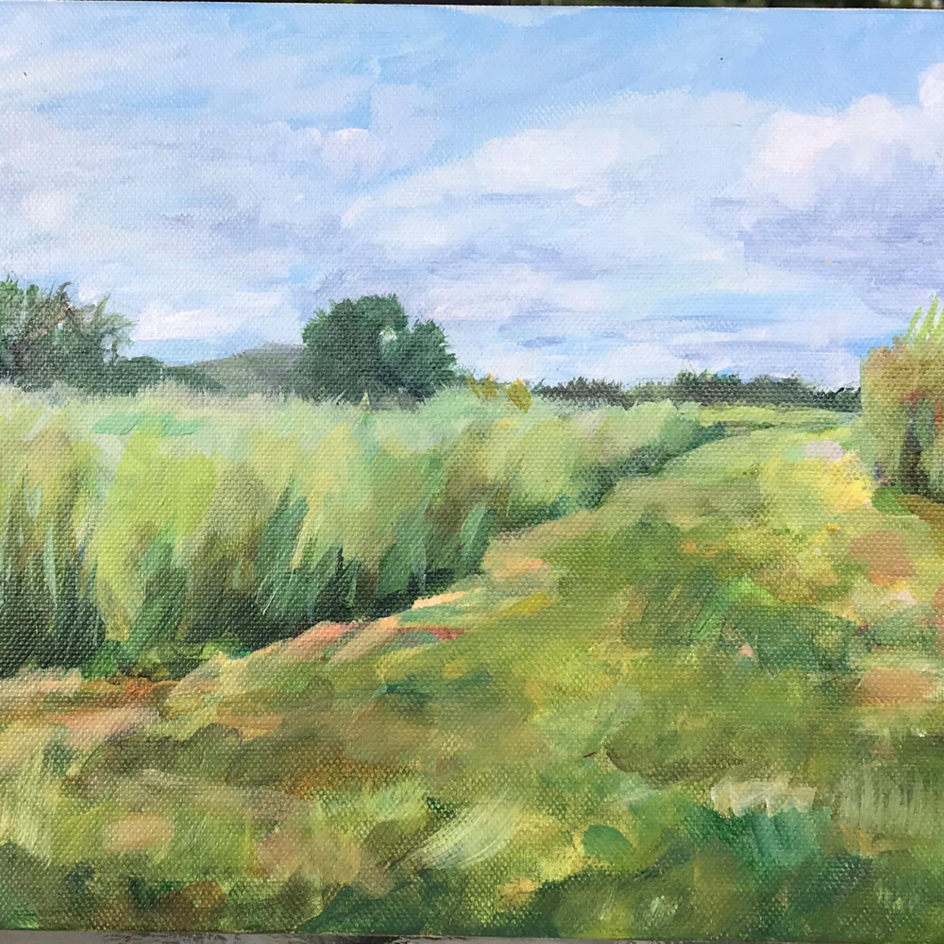 Holtb pasture path acrylic 8 x 16 on1iui