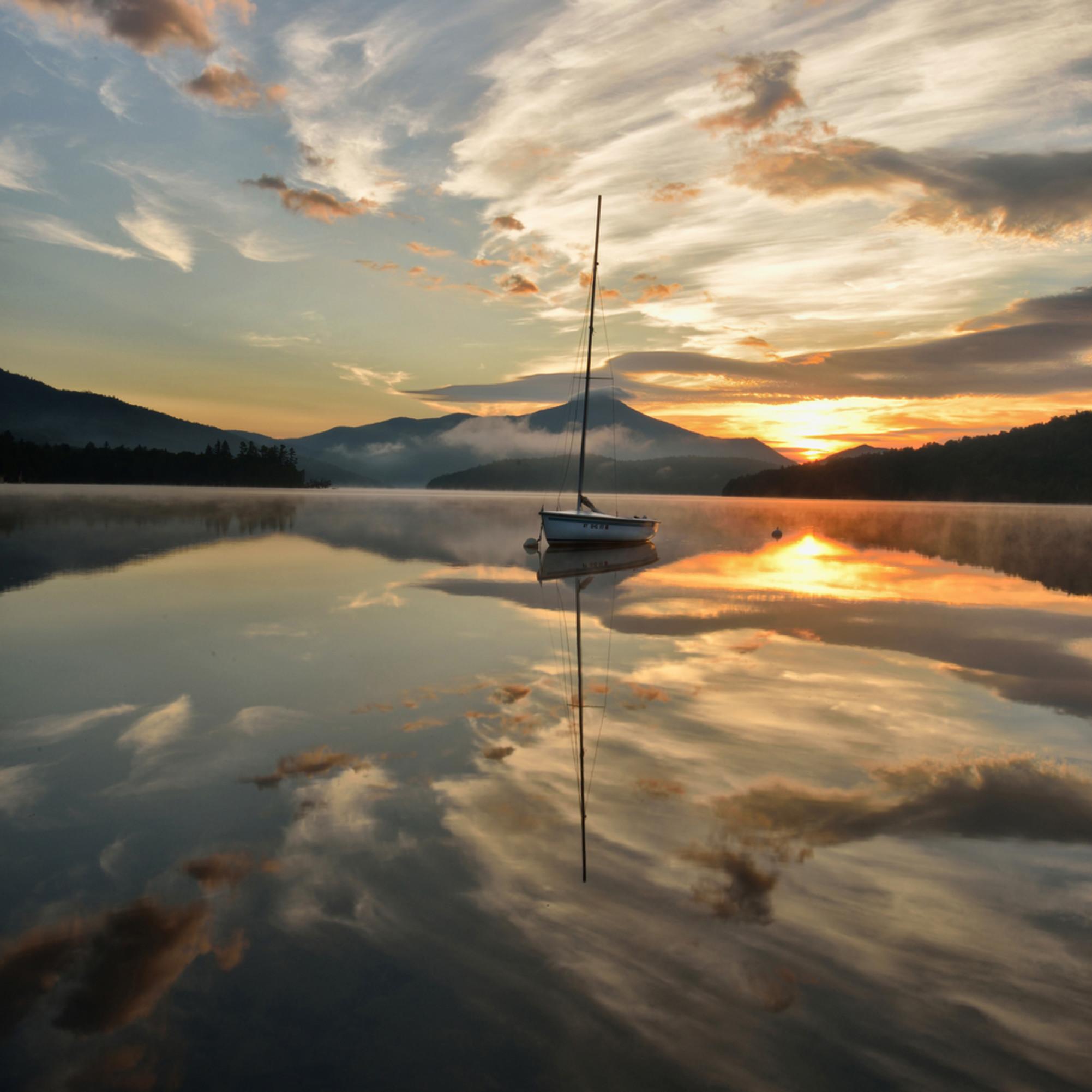 Summer sunrise on lake placid imvl7r