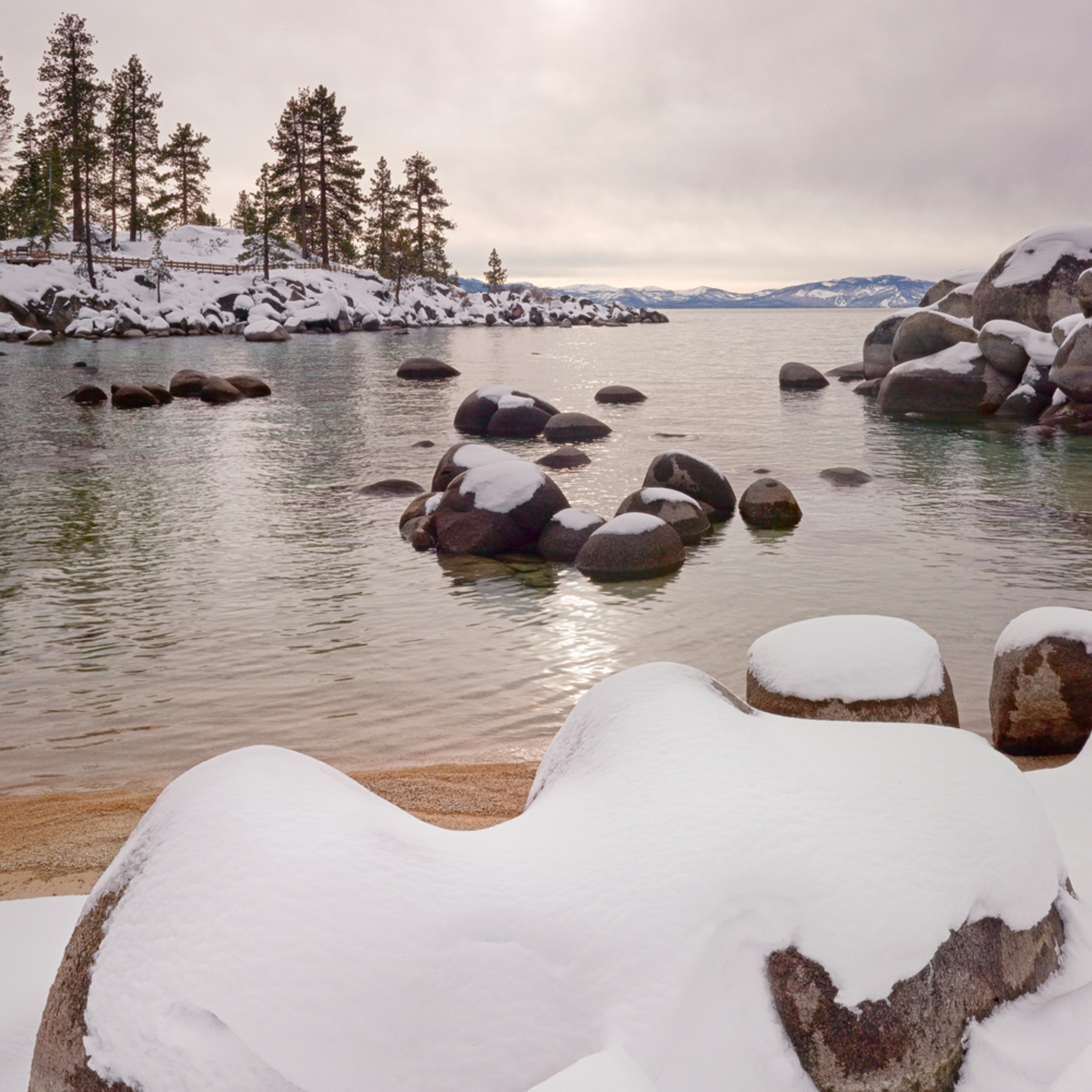 Fresh snow sand harbor p1fqtg