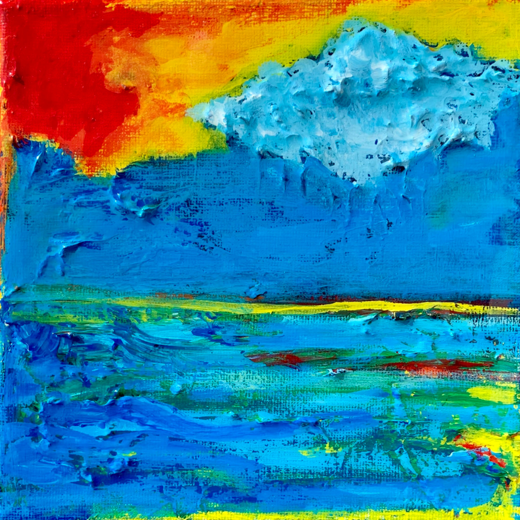 Cloud over the ocean painting artist paul zepeda a29nyn