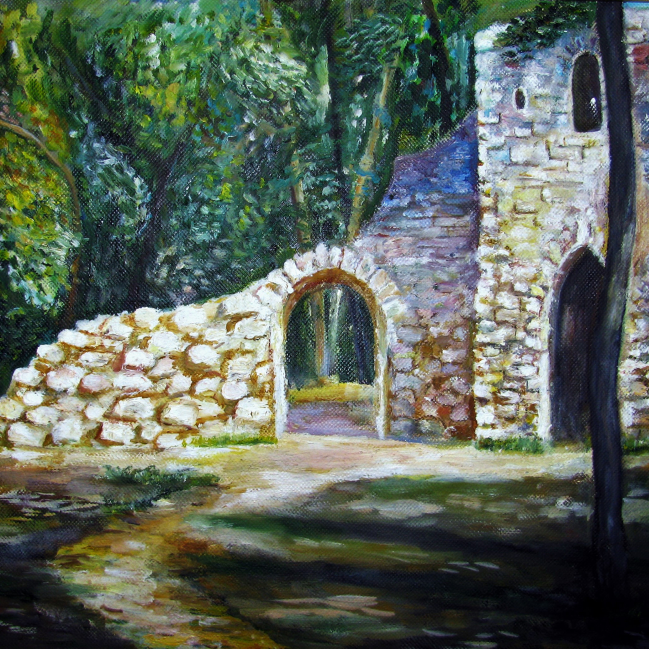 Old castle in the forest yjpnxr